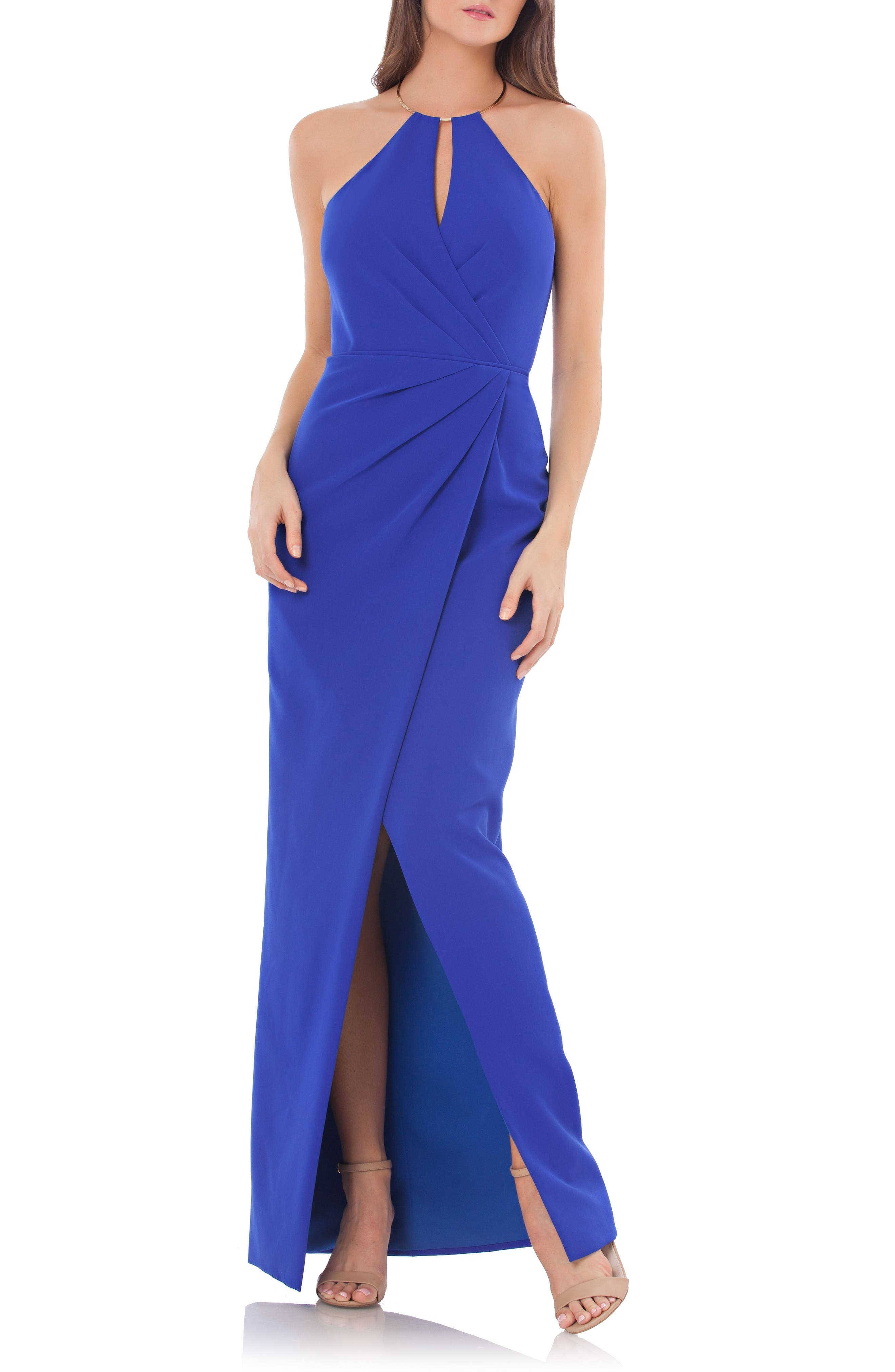 JS Collections Surplice Gown
