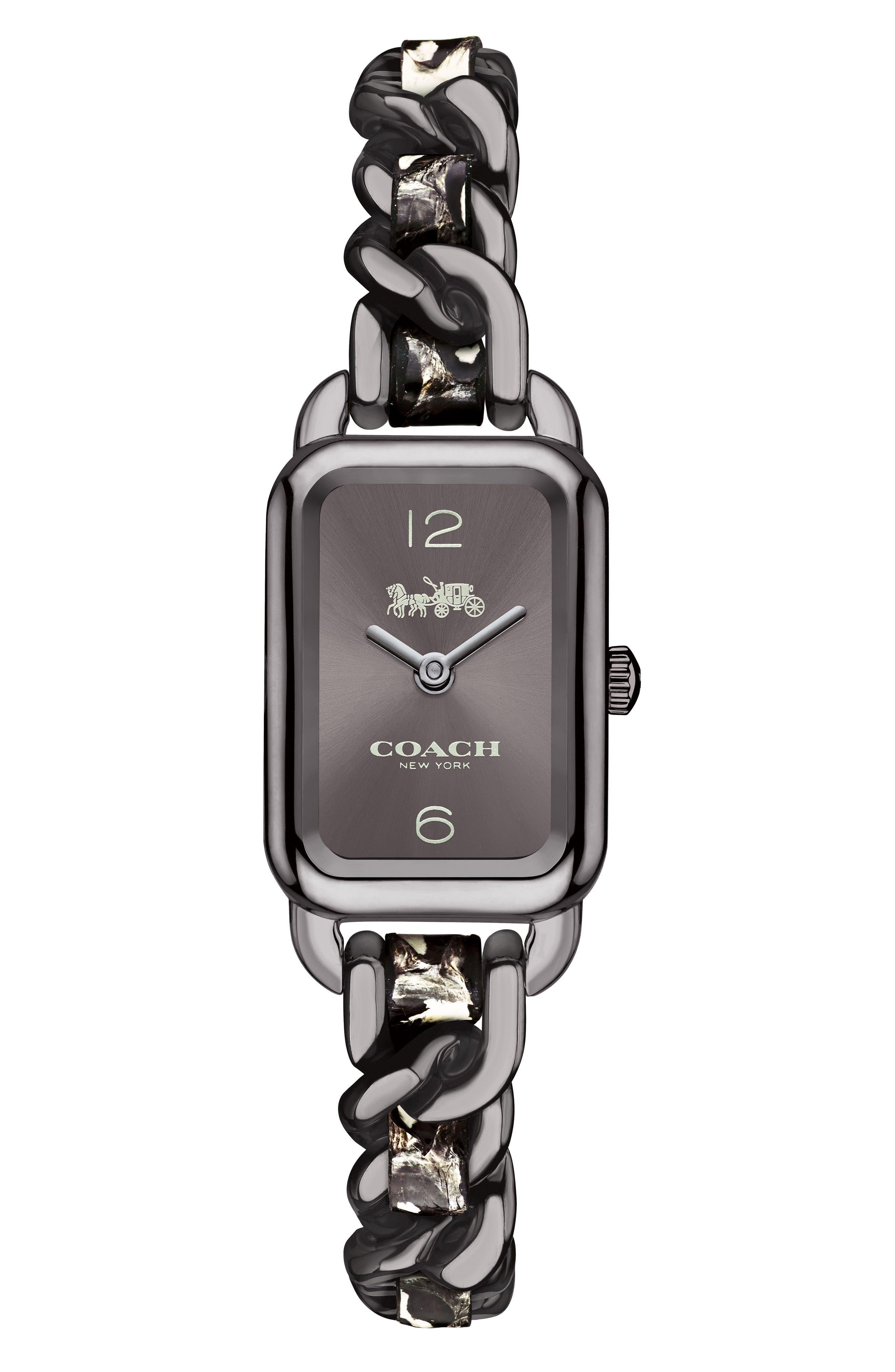 Coach Ludlow Leather Bracelet Watch, 17mm