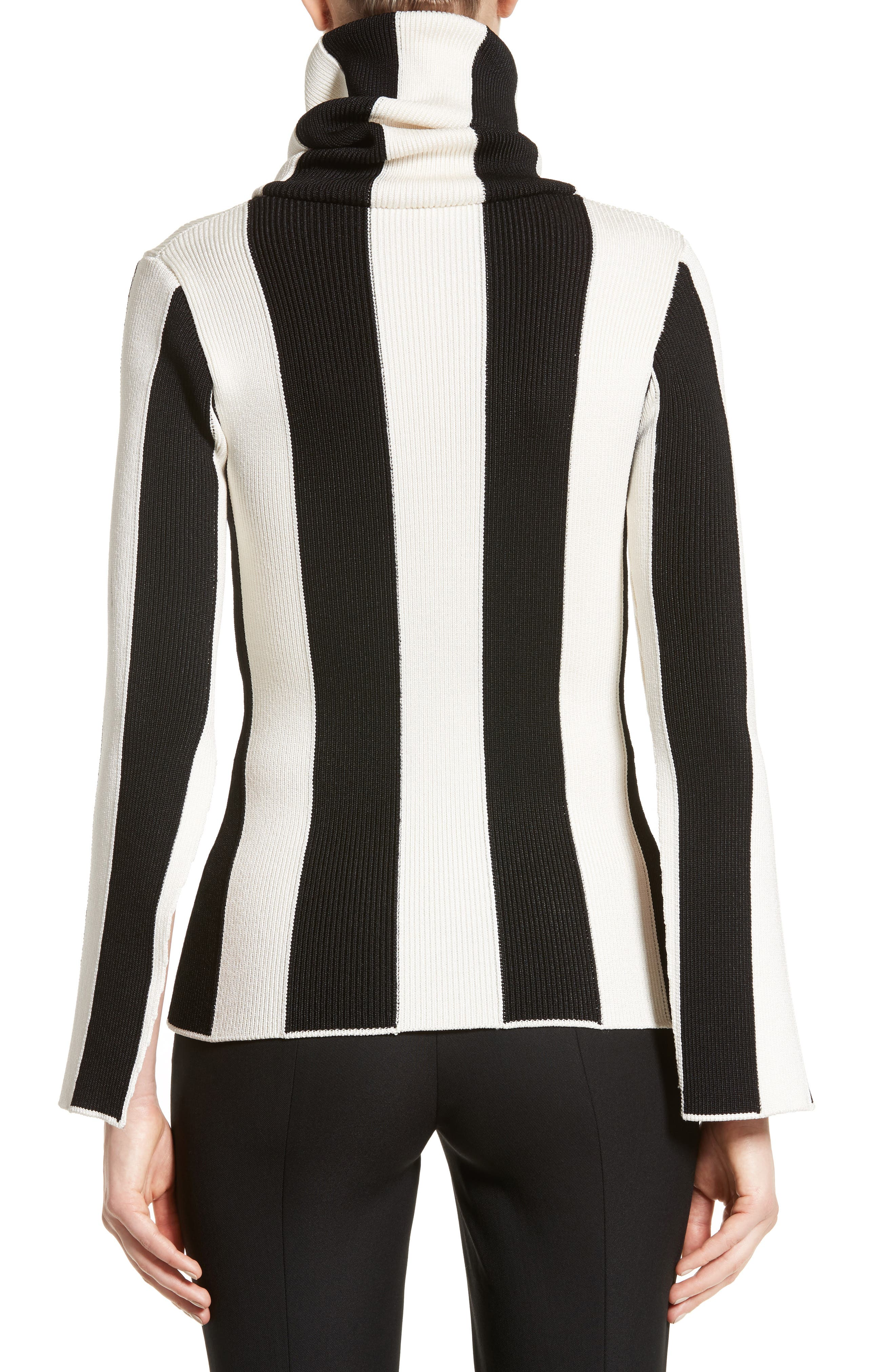Alternate Image 2  - Monse Stripe Turtleneck