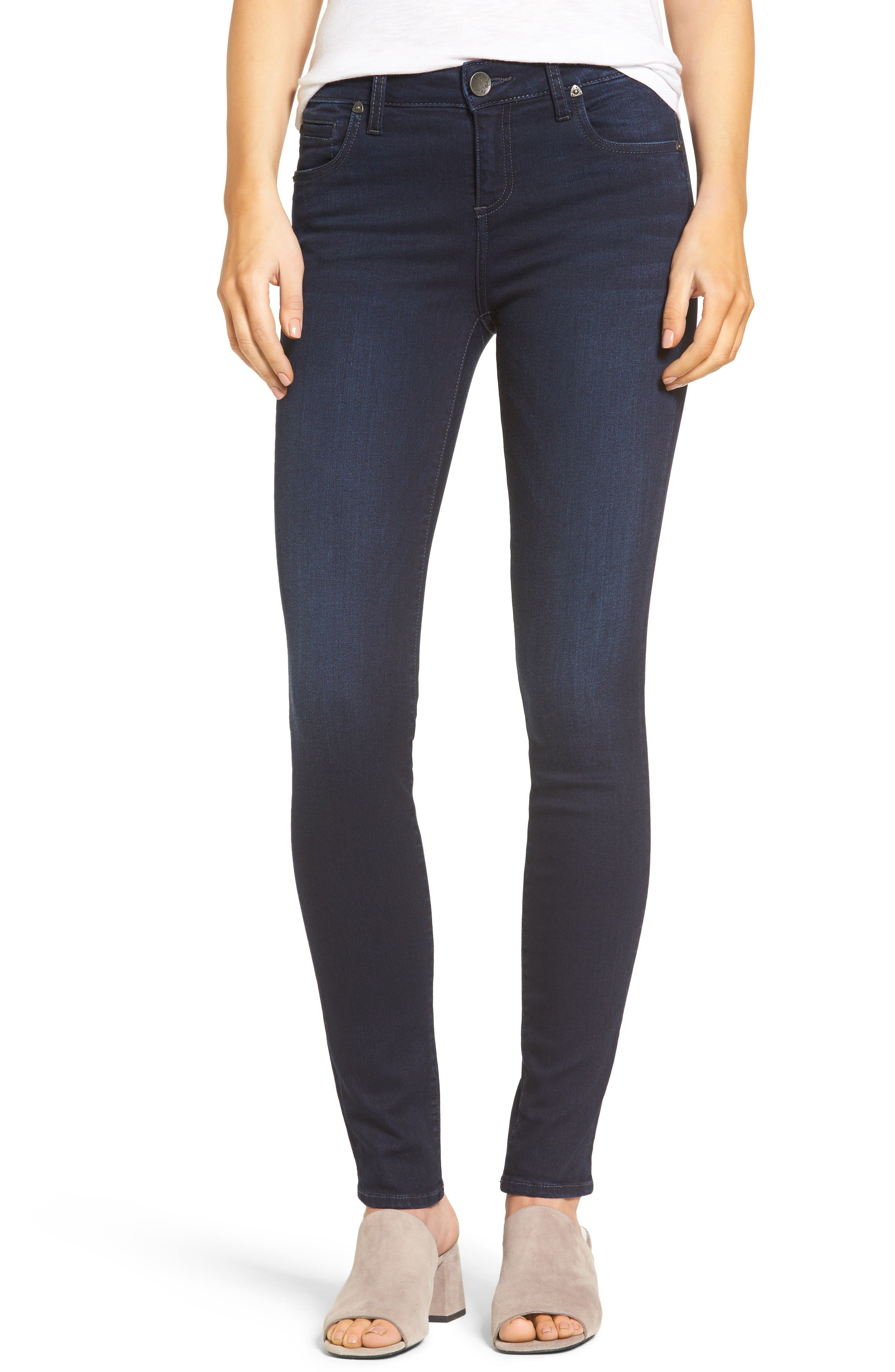 Alternate Image 1 Selected - KUT from the Kloth Diana Stretch Skinny Jeans (Gained) (Regular & Petite)