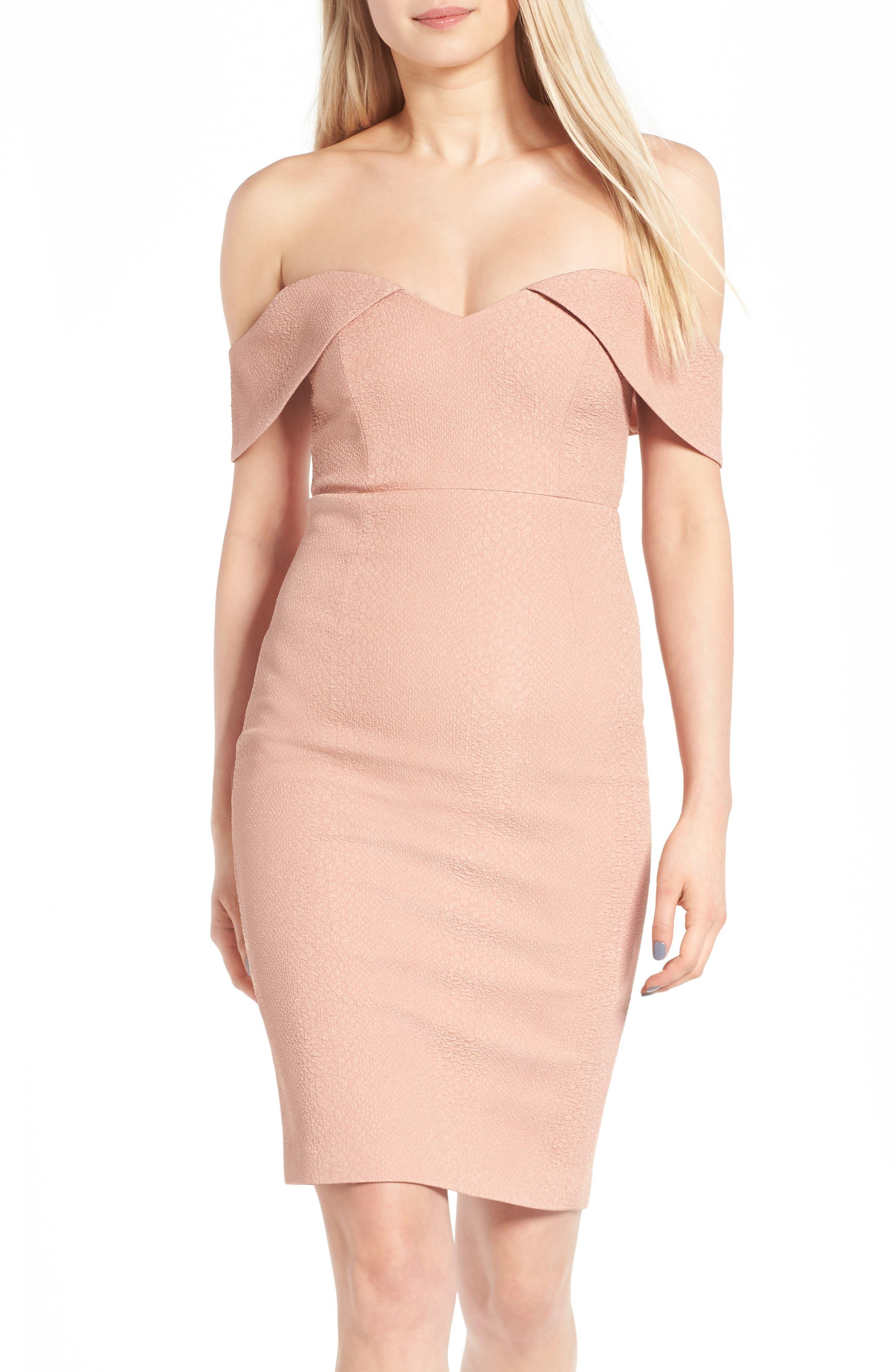 Alternate Image 1 Selected - Bardot Eva Off the Shoulder Body-Con Dress