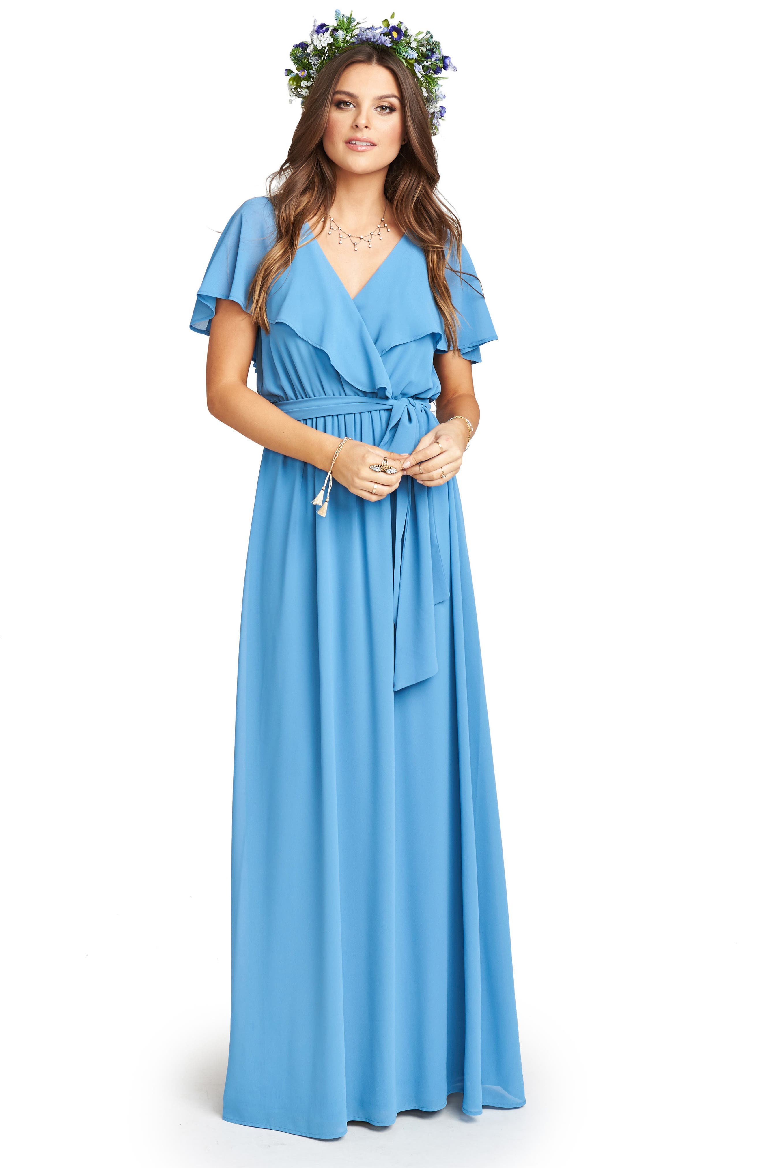 Alternate Image 2  - Show Me Your Mumu Audrey Ruffle Wrap Front Gown