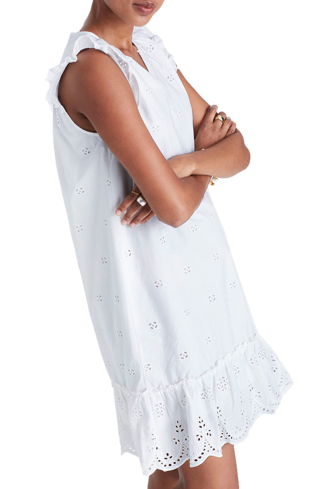 Alternate Image 3  - Madewell Eyelet Garden Dress