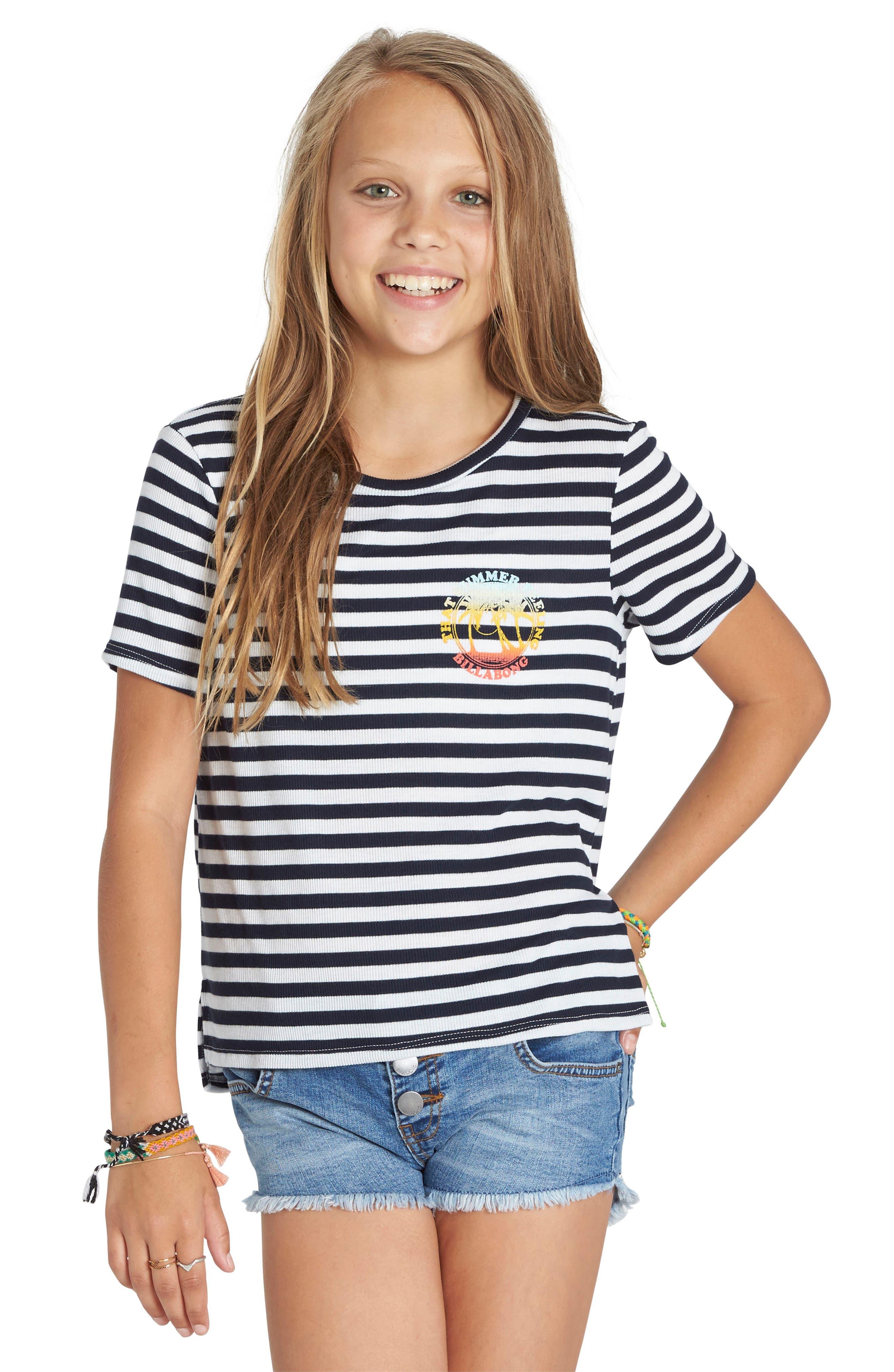 Billabong Stripe Tee (Little Girls & Big Girls)