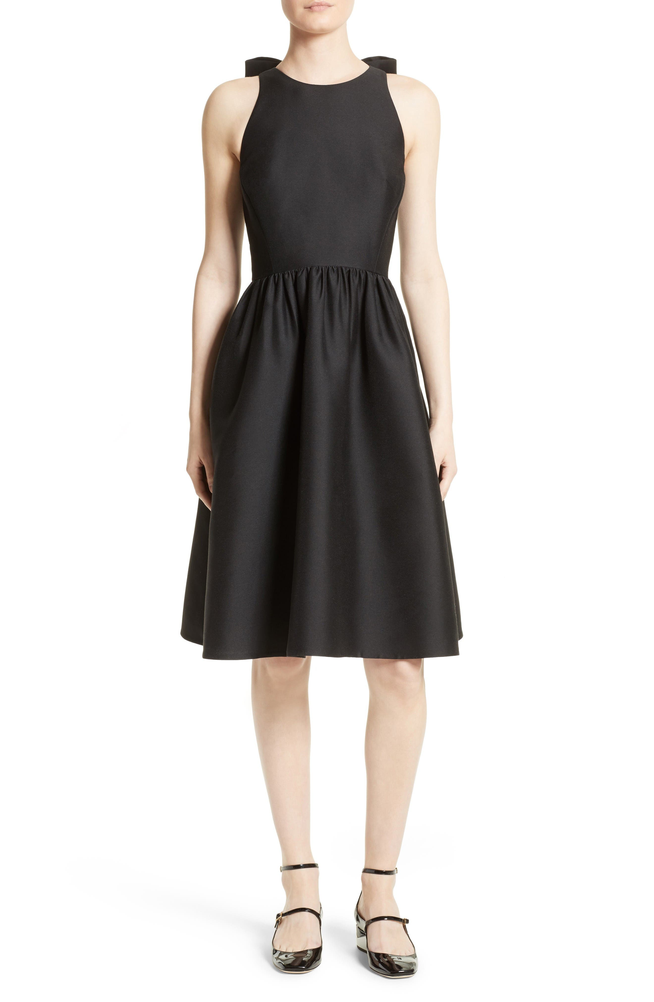 kate spade new york bow back fit & flare dress
