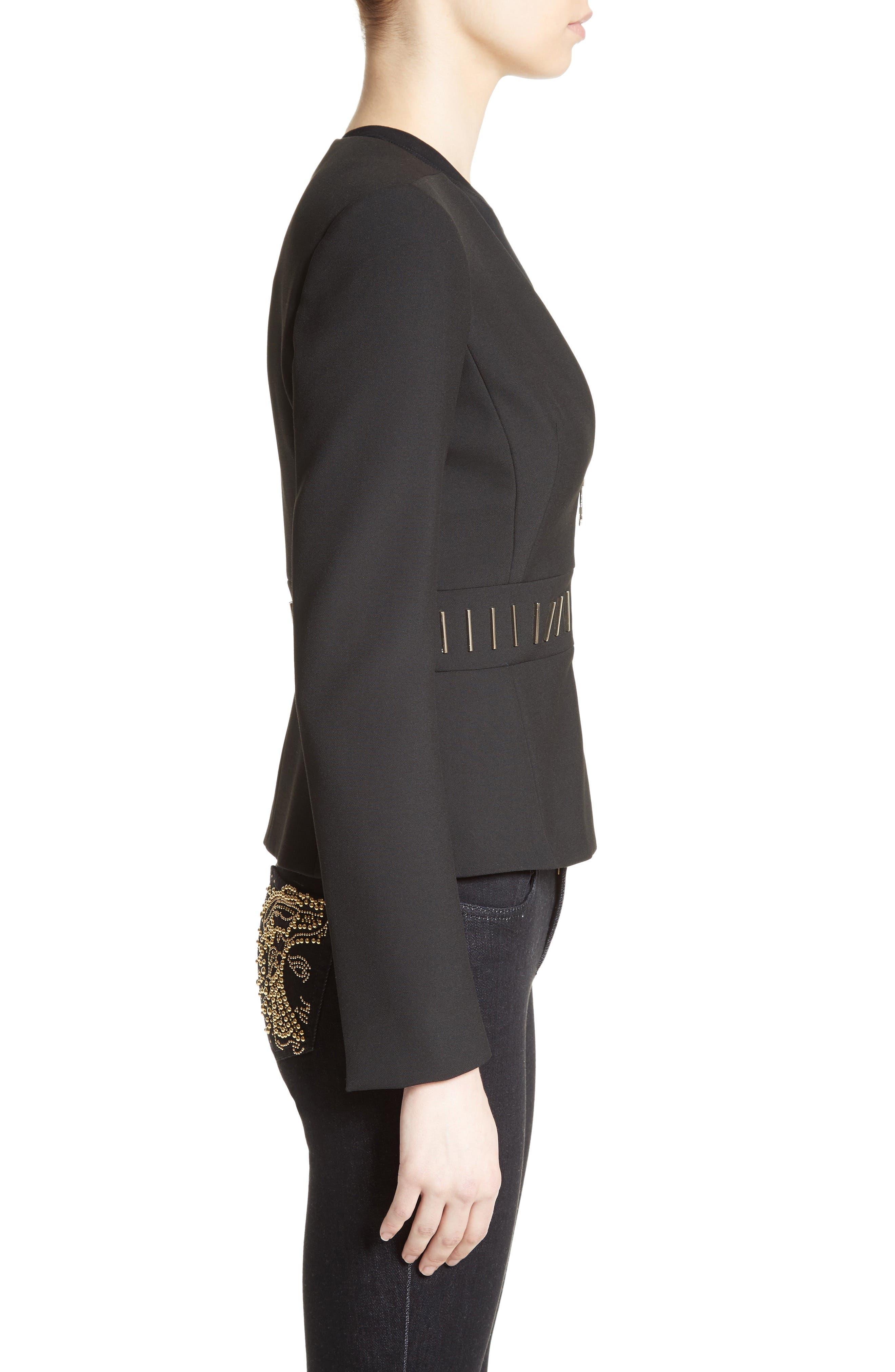 Alternate Image 5  - Versace Collection Bar Detail Cady Jacket