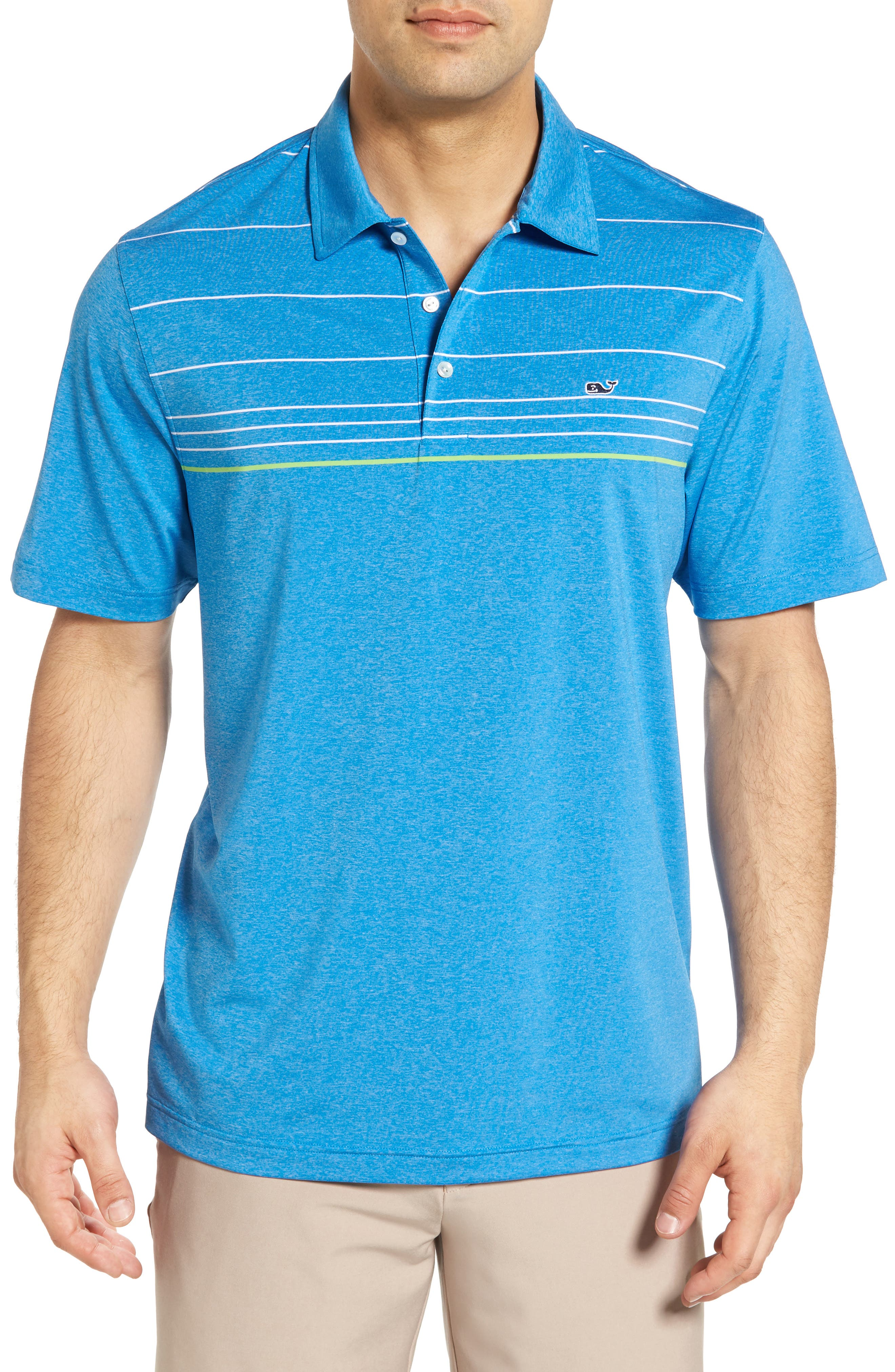 Vineyard Vines Simsbury Stripe Performance Polo