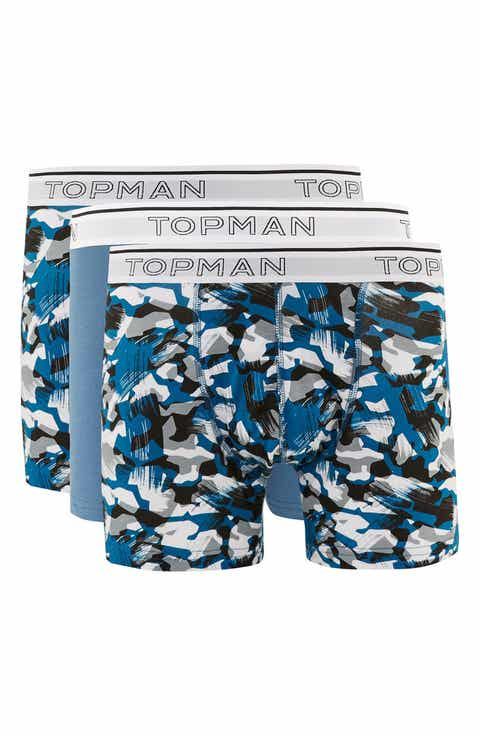 Topman 3-Pack Abstract Camo Trunks