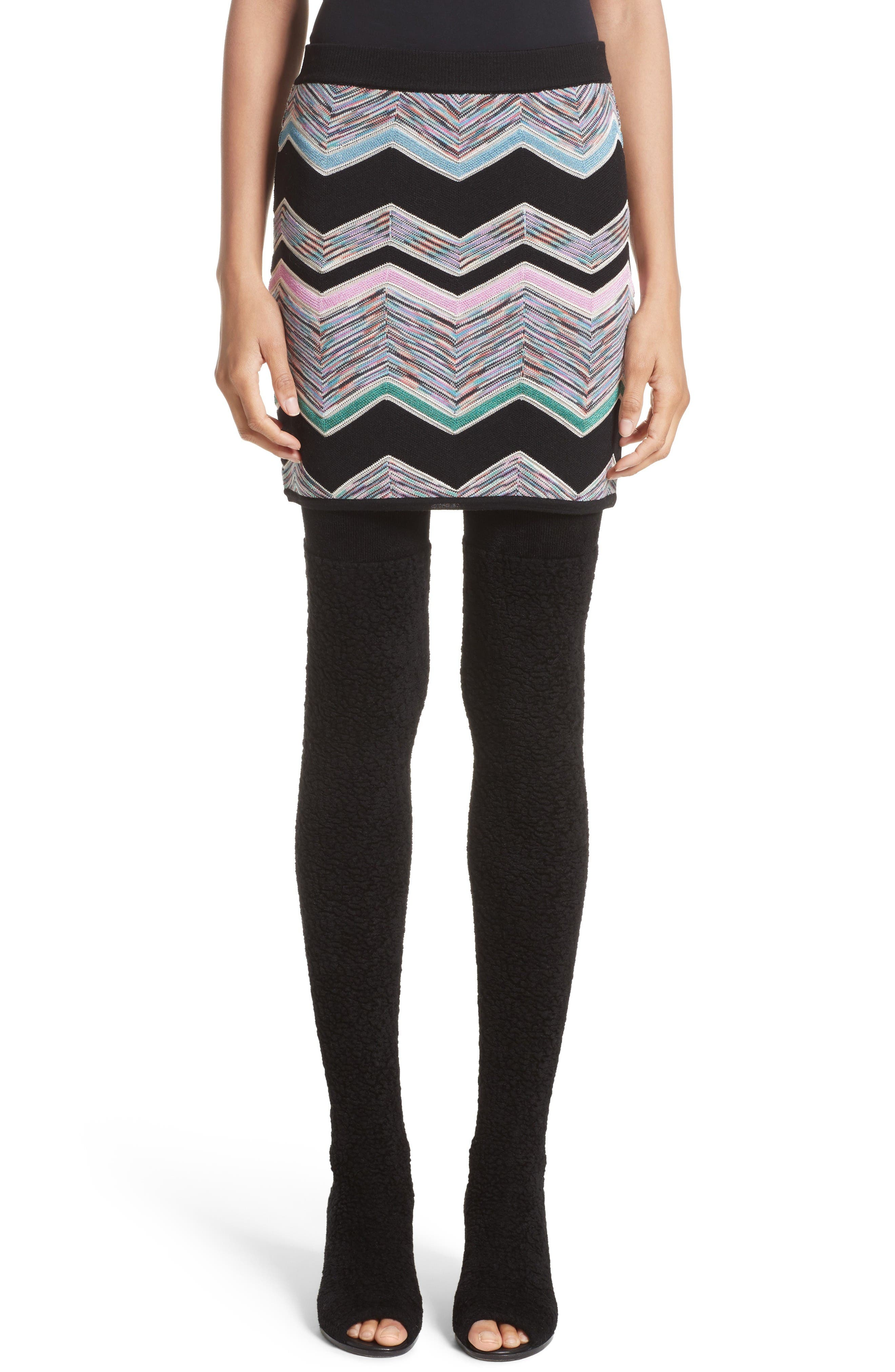 Missoni Zigzag Jacquard Knit Skirt