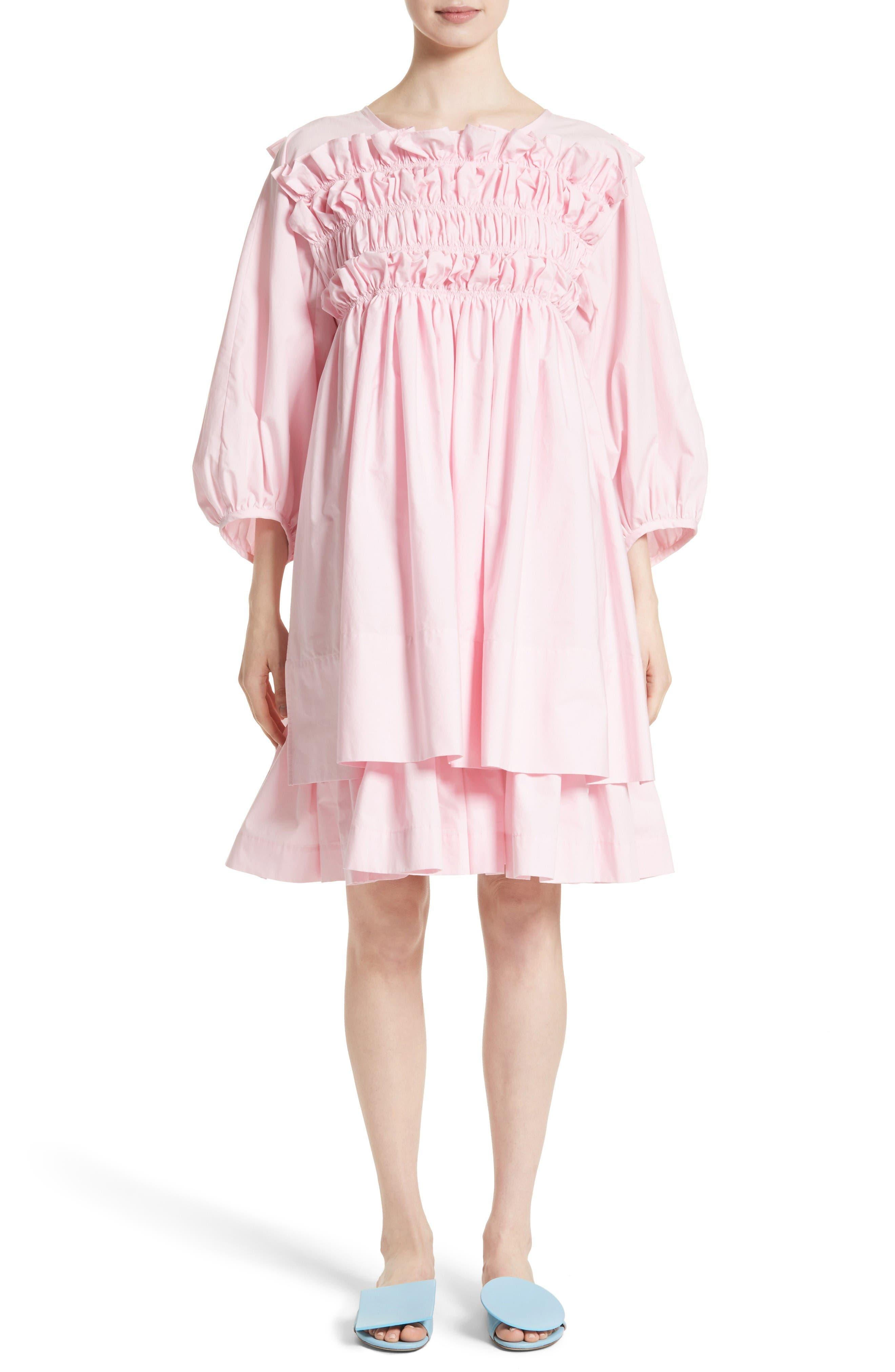 Molly Goddard Smocked Frill Dress (Nordstrom Exclusive)