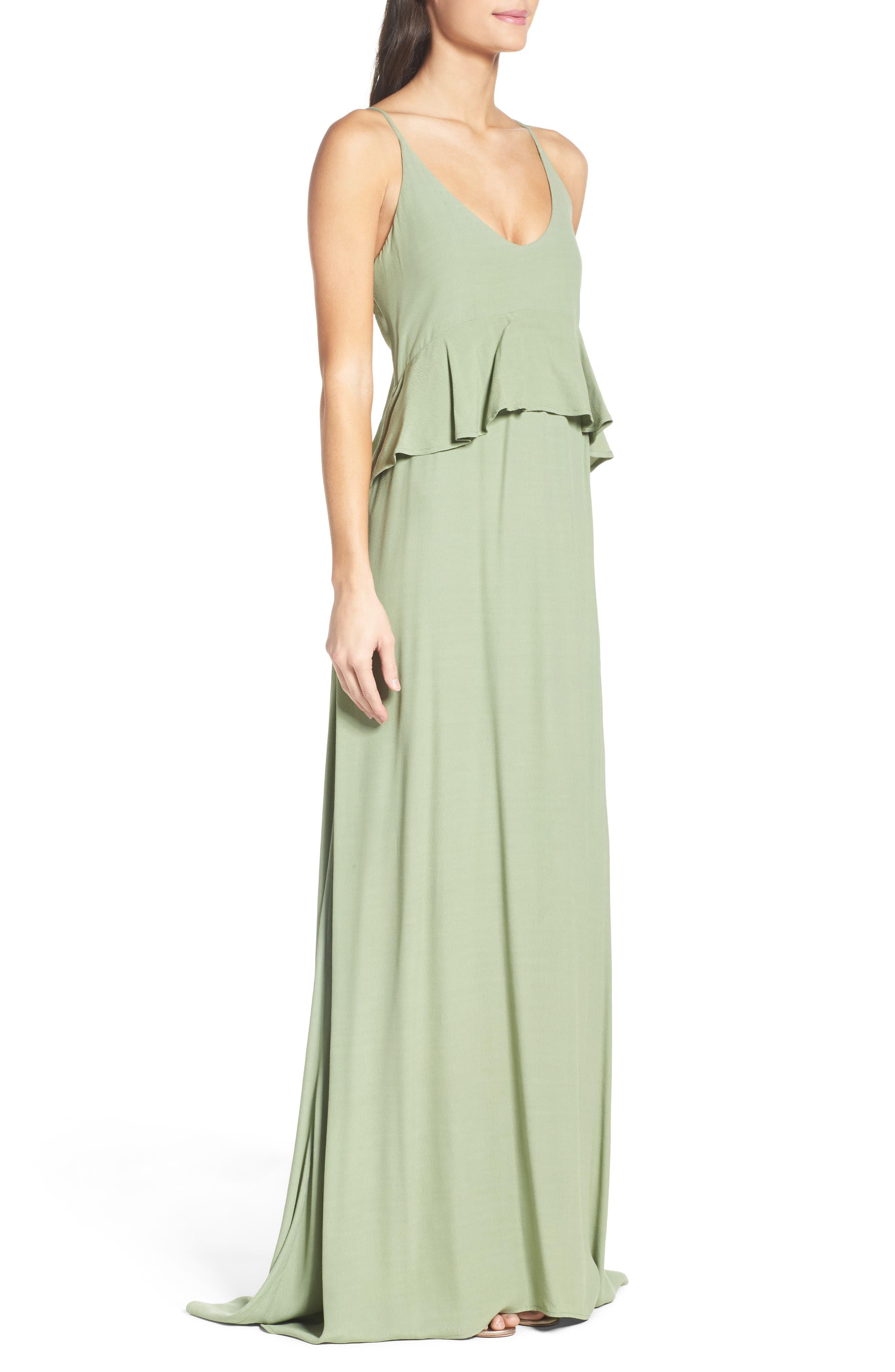 Alternate Image 3  - Roe + May Jolie Crepe Peplum Dress