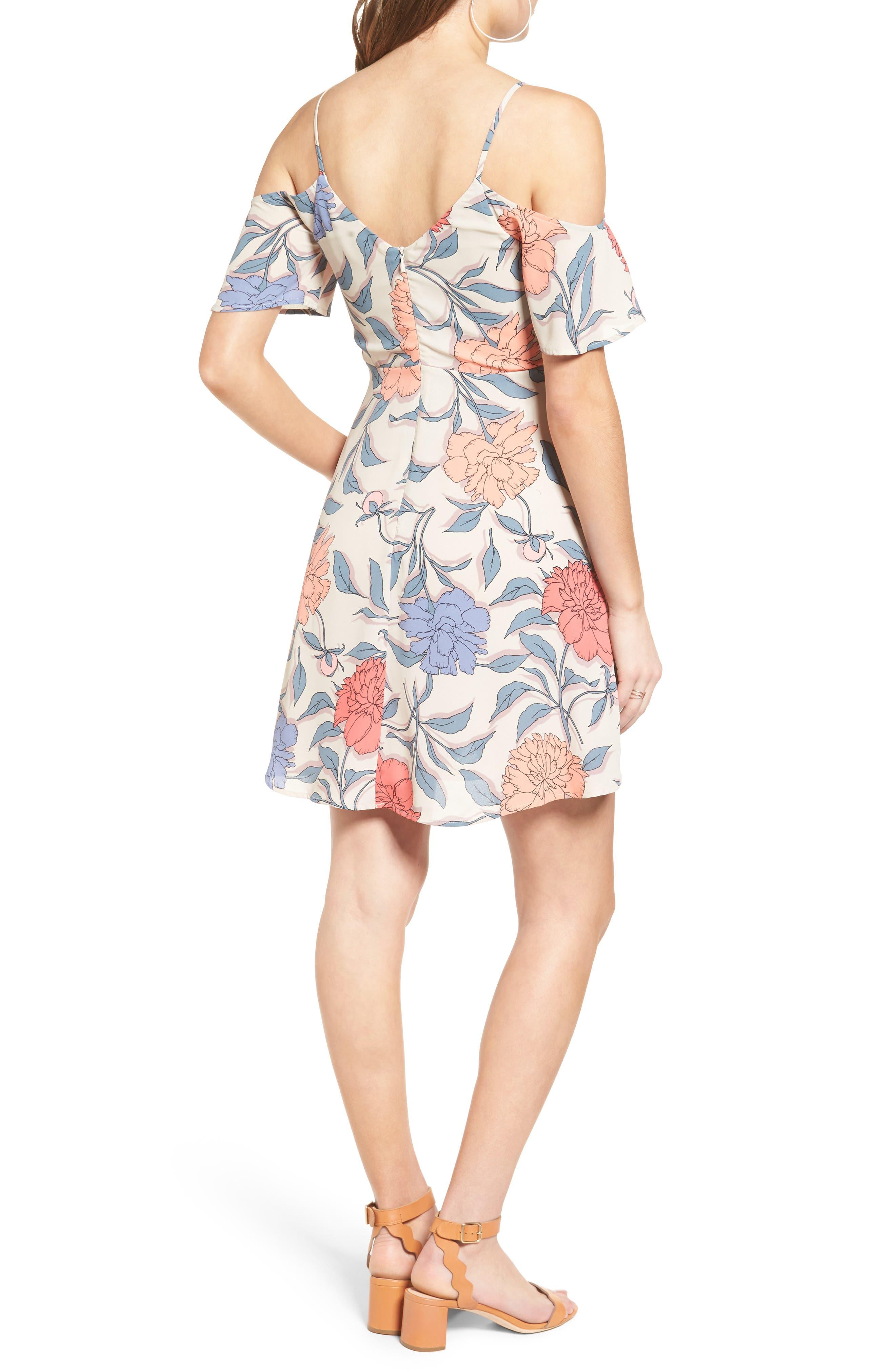 Alternate Image 2  - Lush Off the Shoulder Fit & Flare Dress