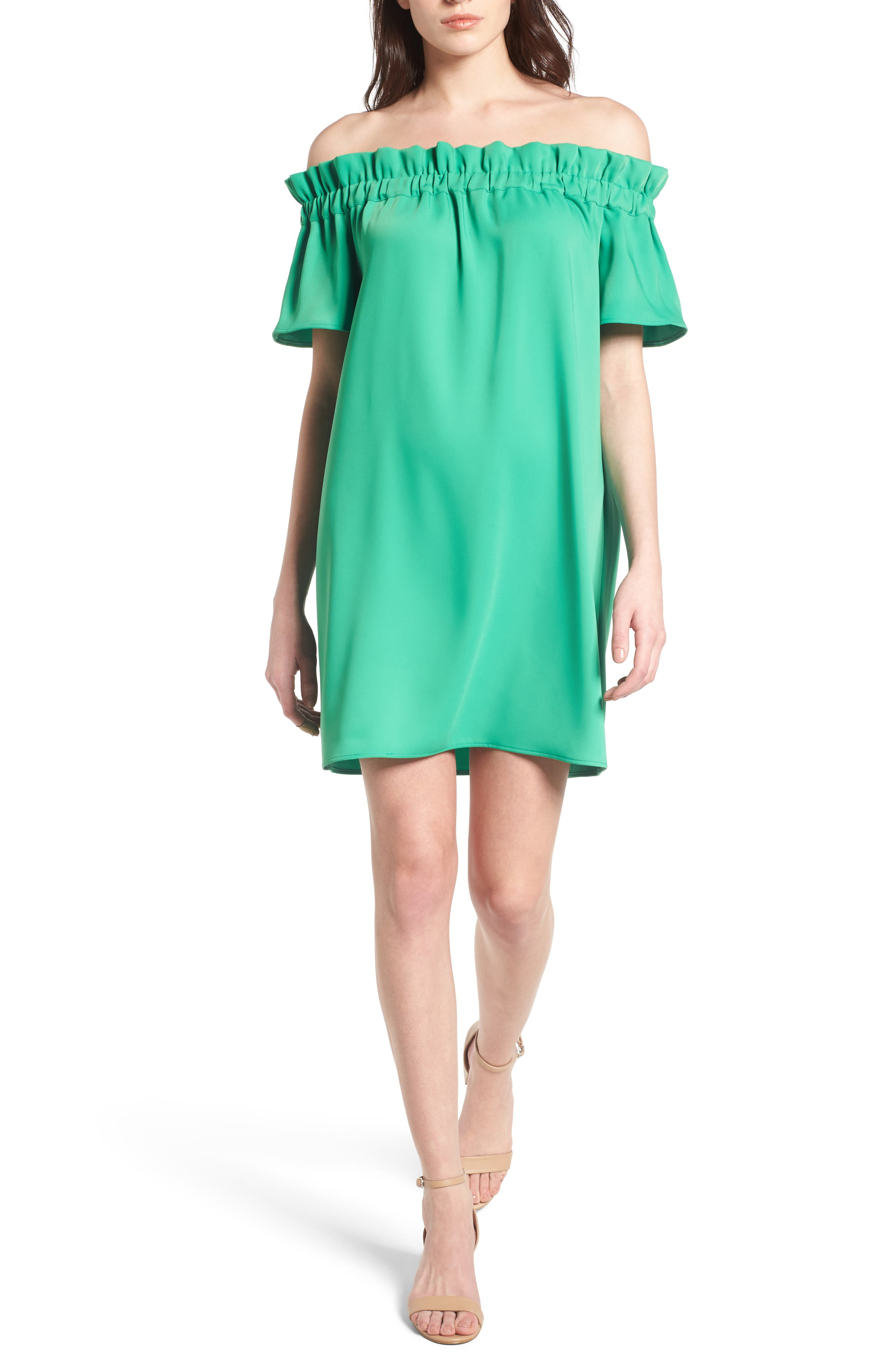 Pleione Off the Shoulder Dress (Regular & Petite)