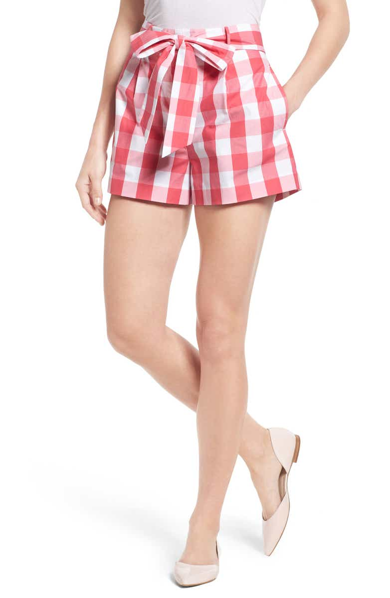 Loving these gingham check bow shorts