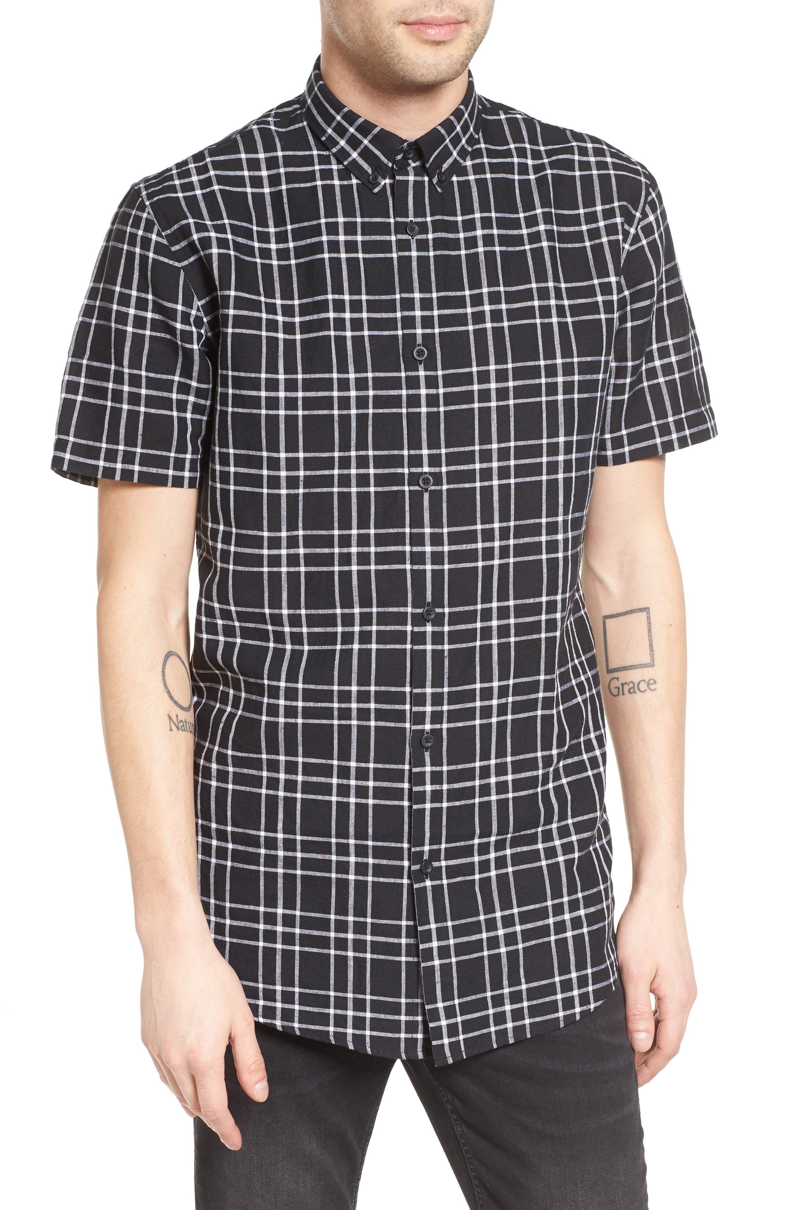 ZANEROBE 7Ft Plaid Woven Shirt