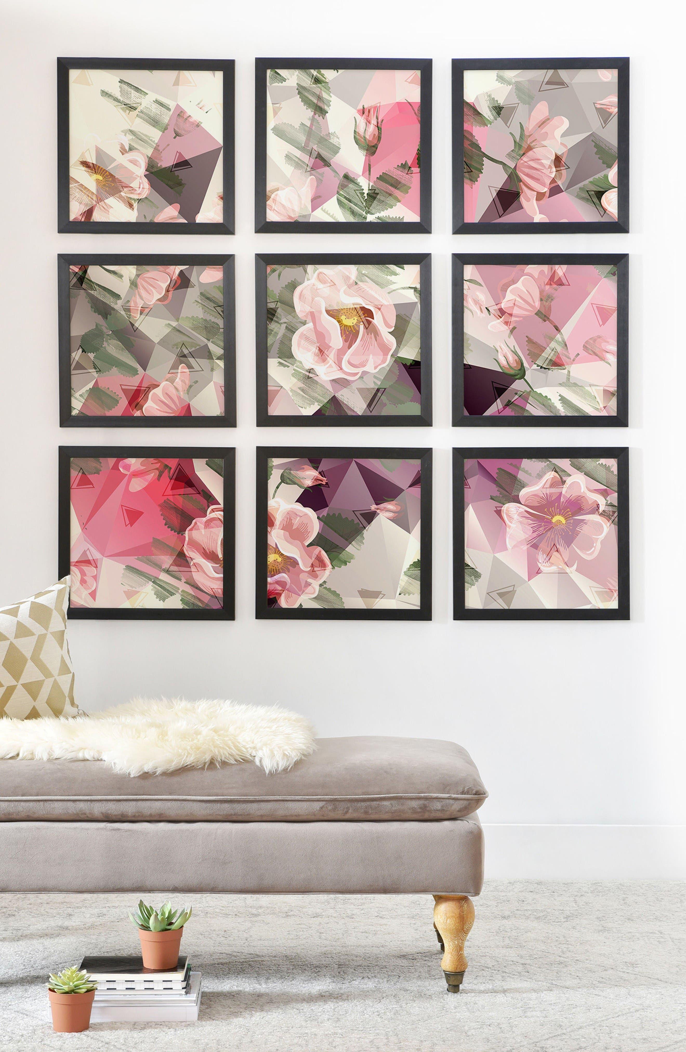 Alternate Image 2  - DENY Designs 9-Piece Geometric Framed Wall Mural
