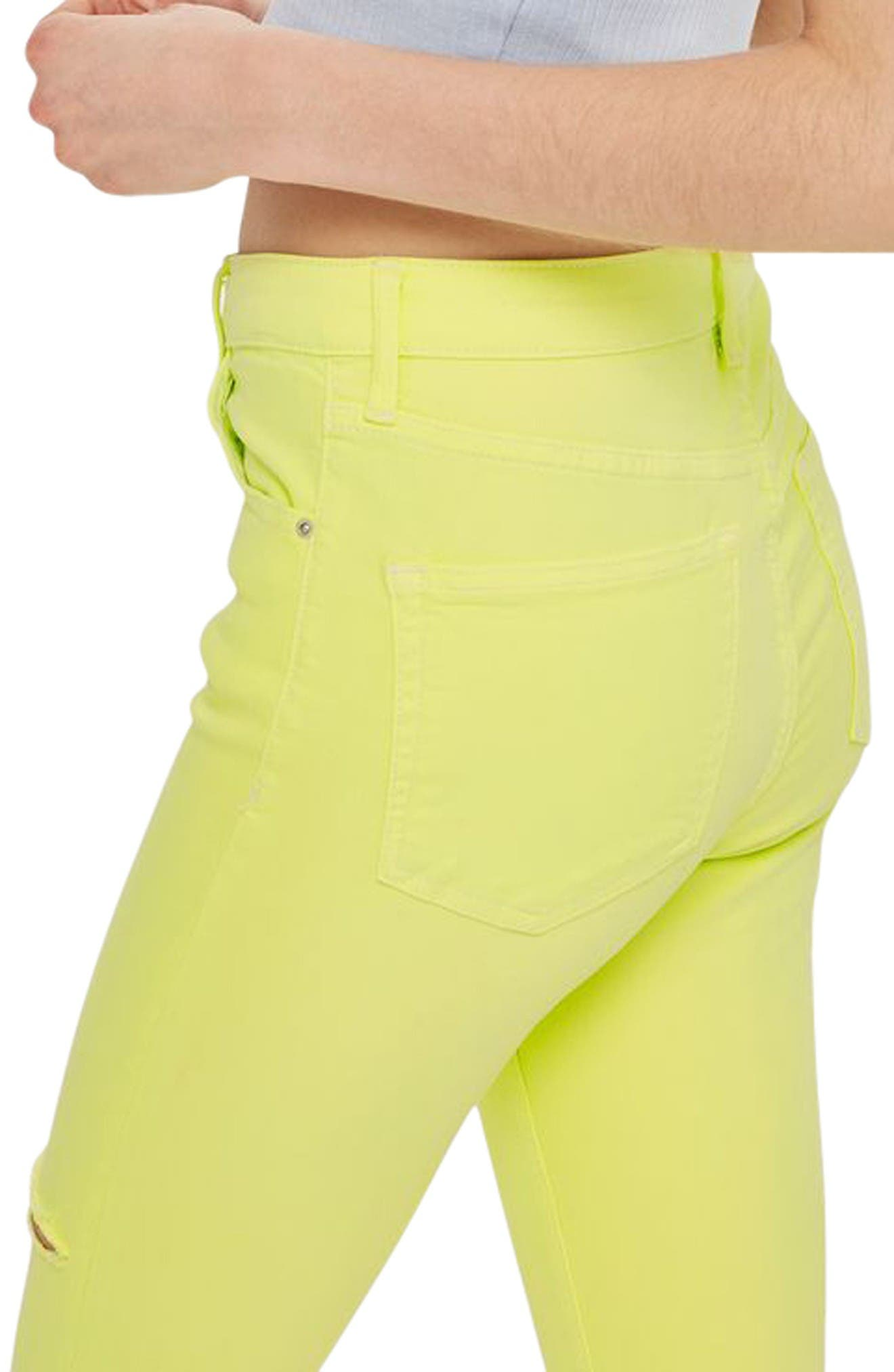 Alternate Image 3  - Topshop Jamie Ripped Skinny Jeans (Lime)