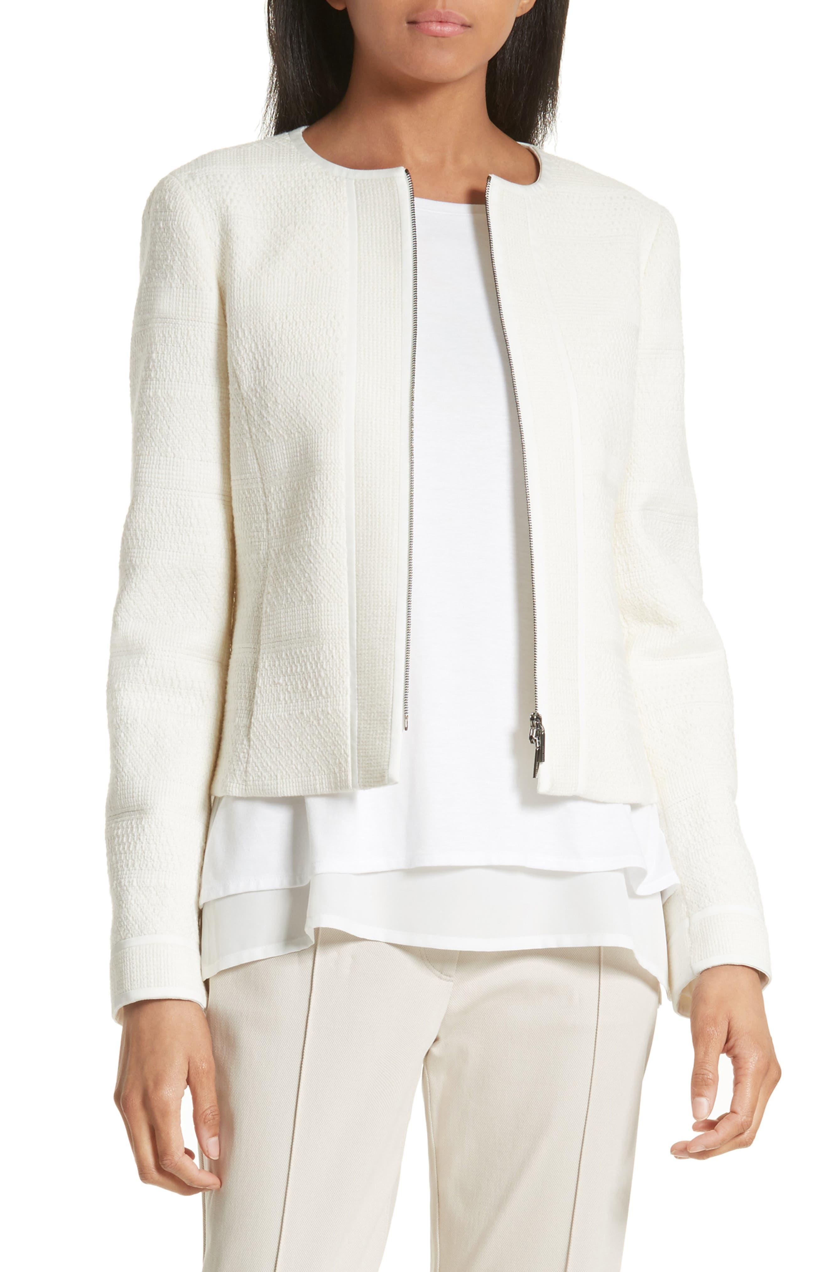 BOSS Koralie Zip Front Jacket