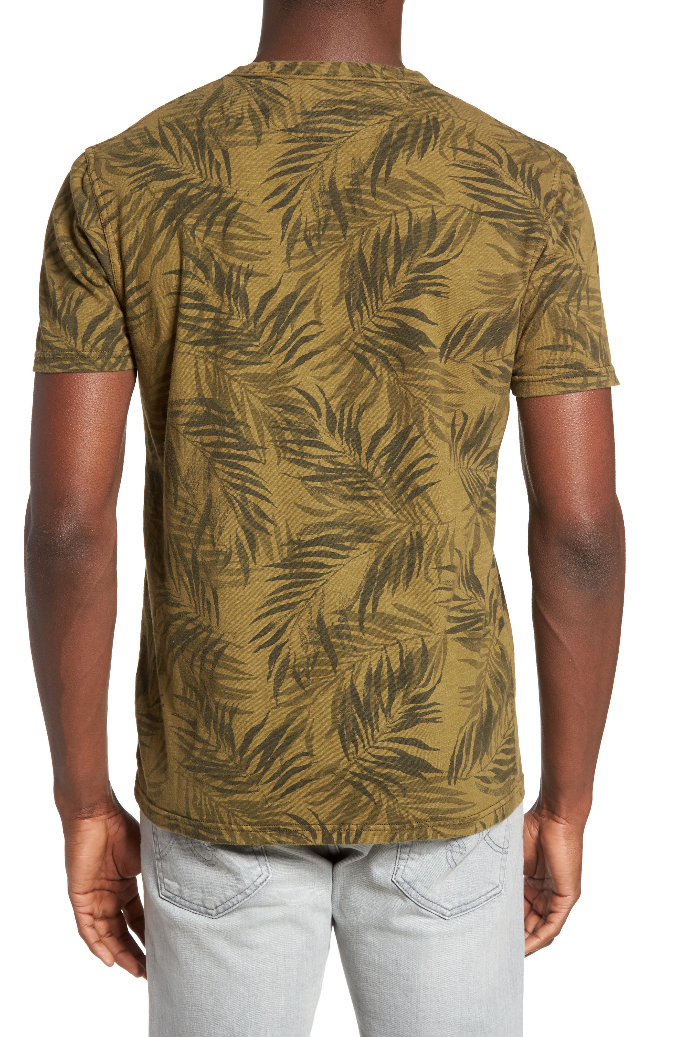 Alternate Image 2  - Lucky Brand Palm Print Notch T-Shirt