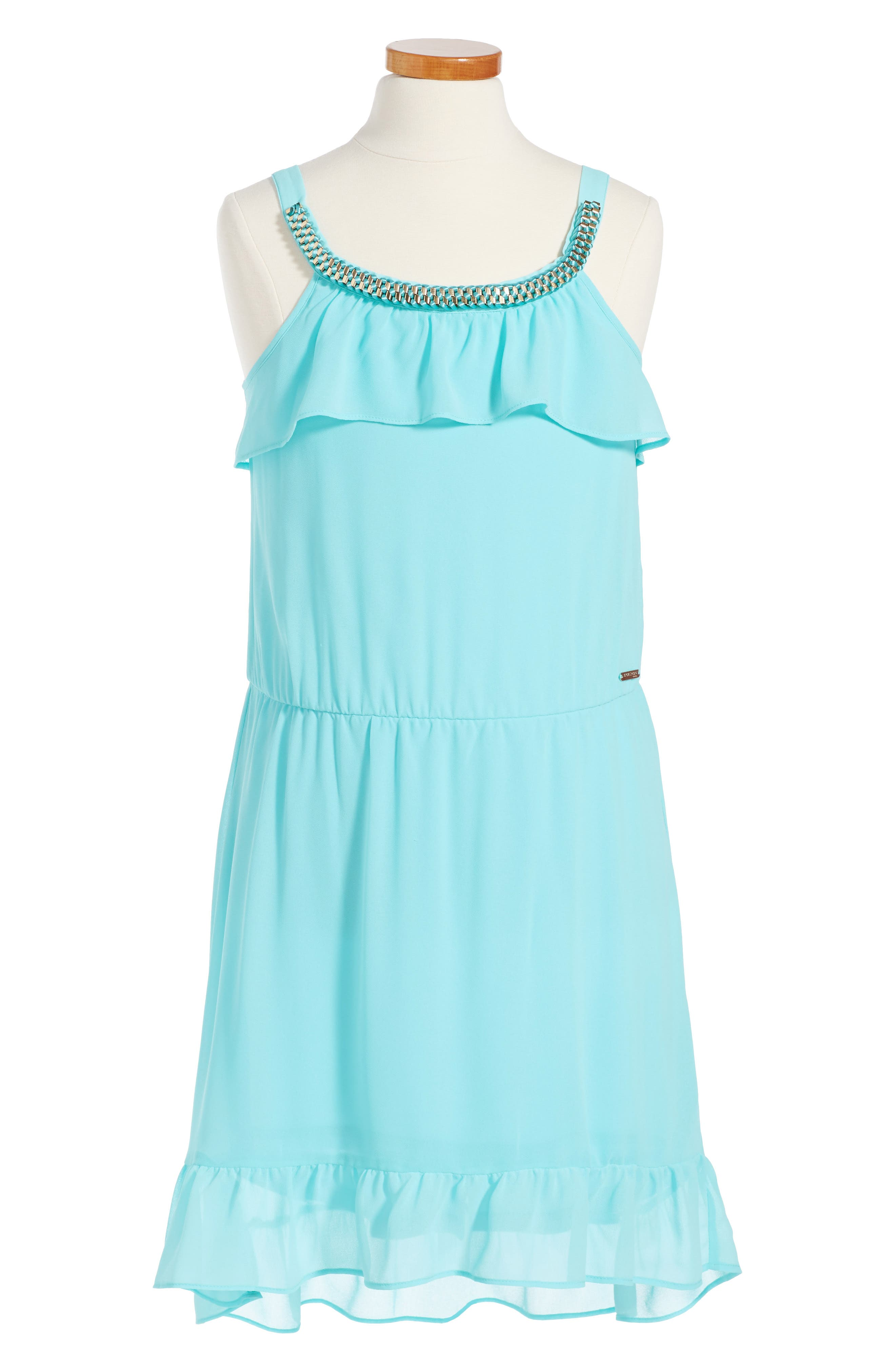 Marciano High/Low Chiffon Dress (Big Girls)
