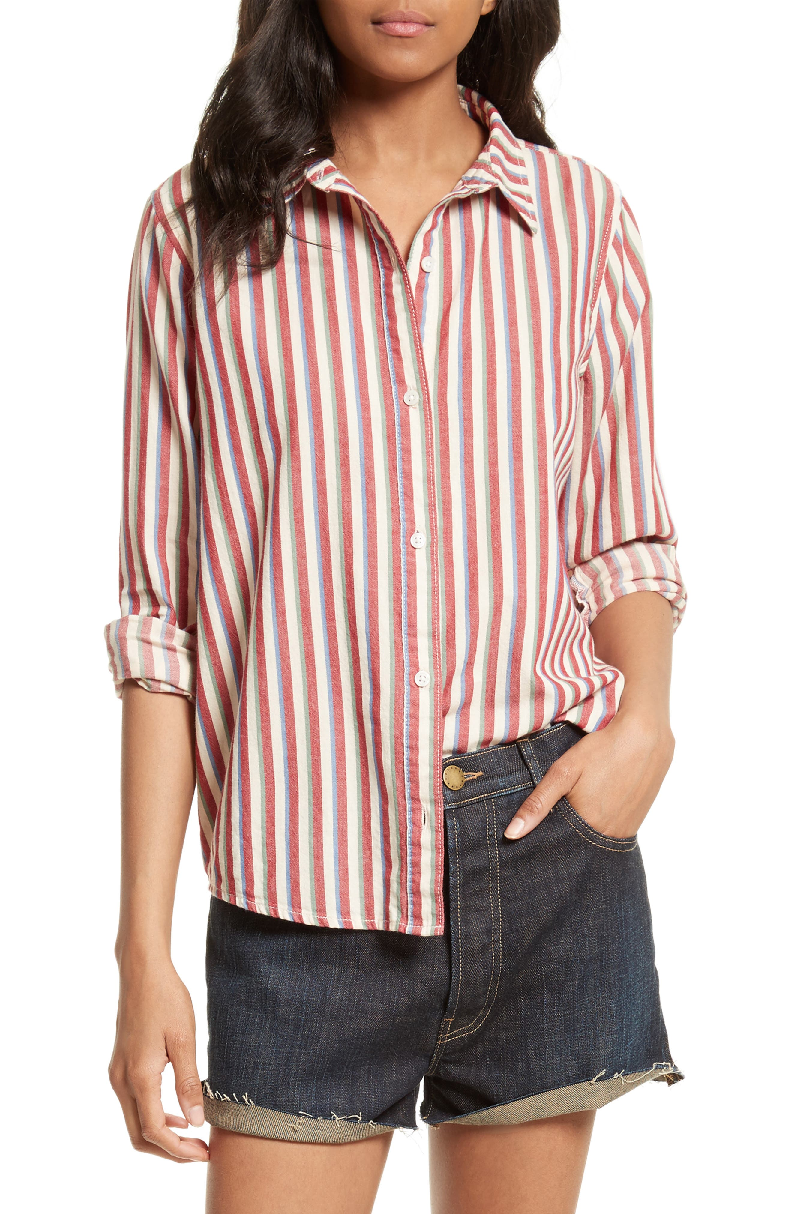 THE GREAT. The Campus Stripe Shirt