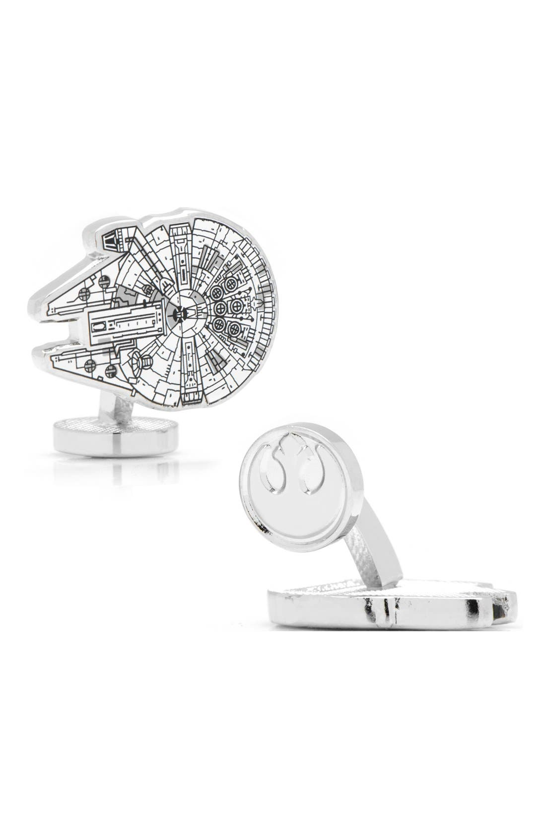 Main Image - Cufflinks, Inc. 'Star Wars™ - Millennium Falcon Blueprint' Cuff Links
