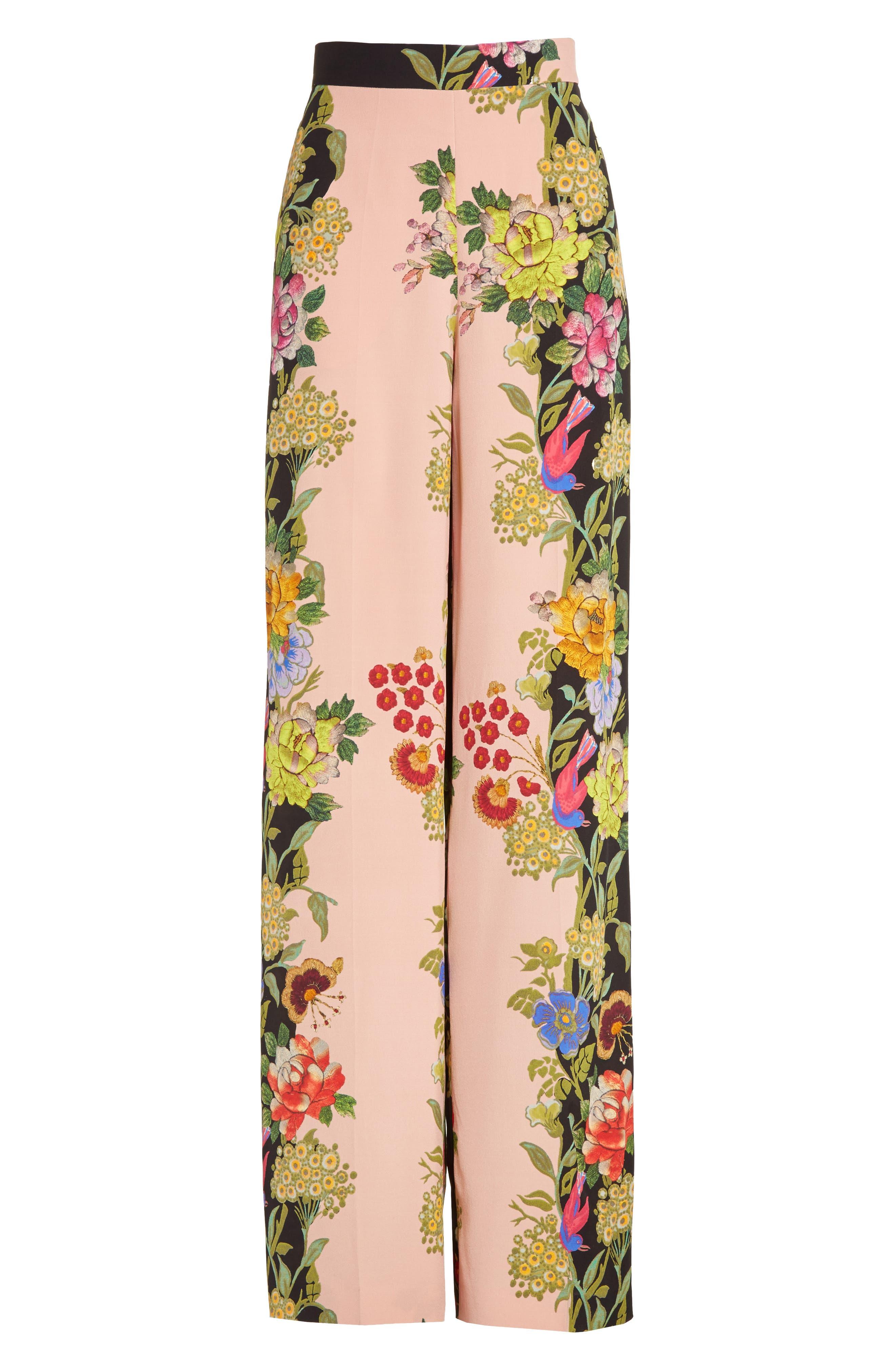 Alternate Image 4  - Etro Largo Floral Print Silk Pants