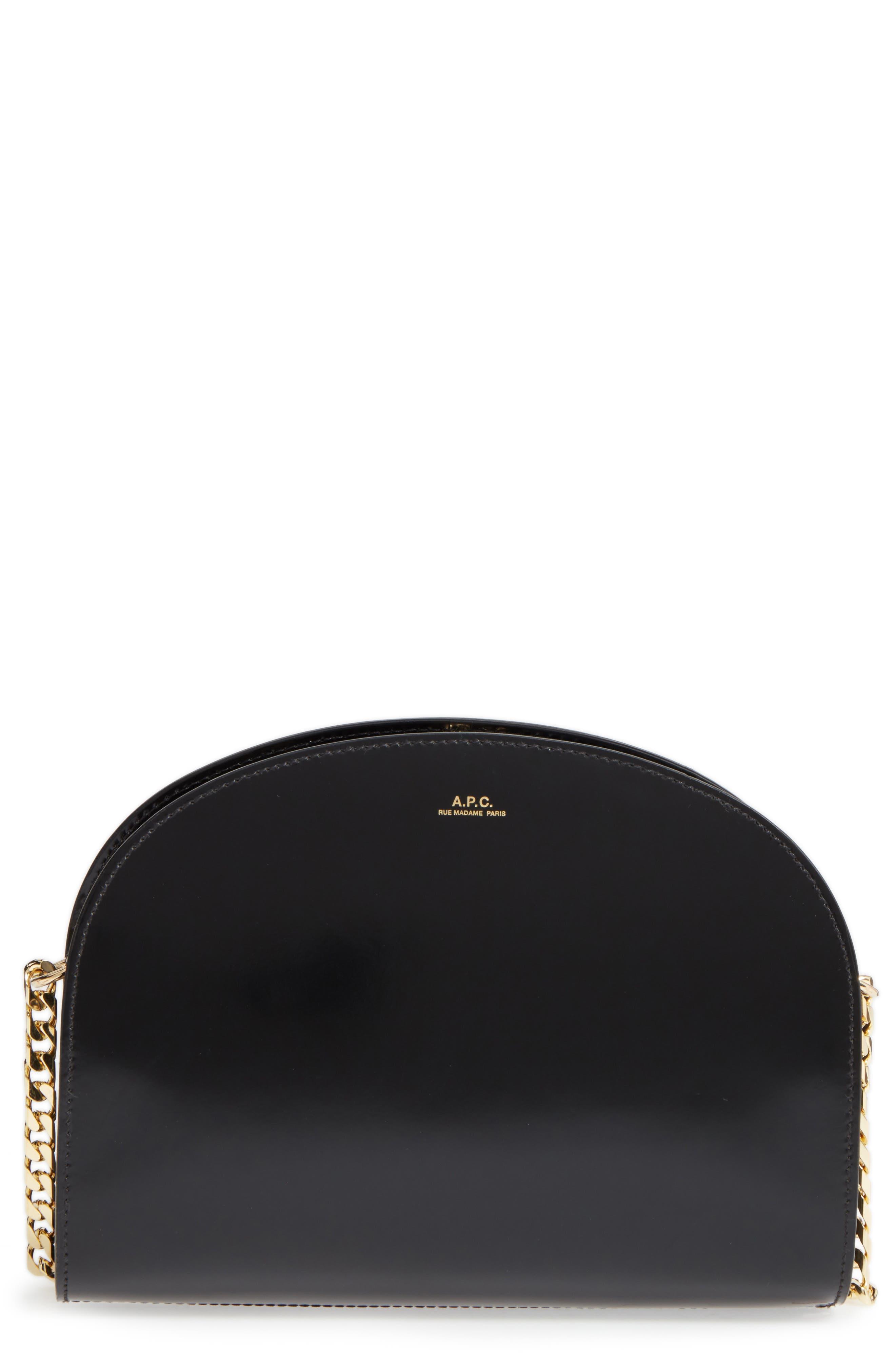 A.P.C. Sac Luna Leather Shoulder Bag
