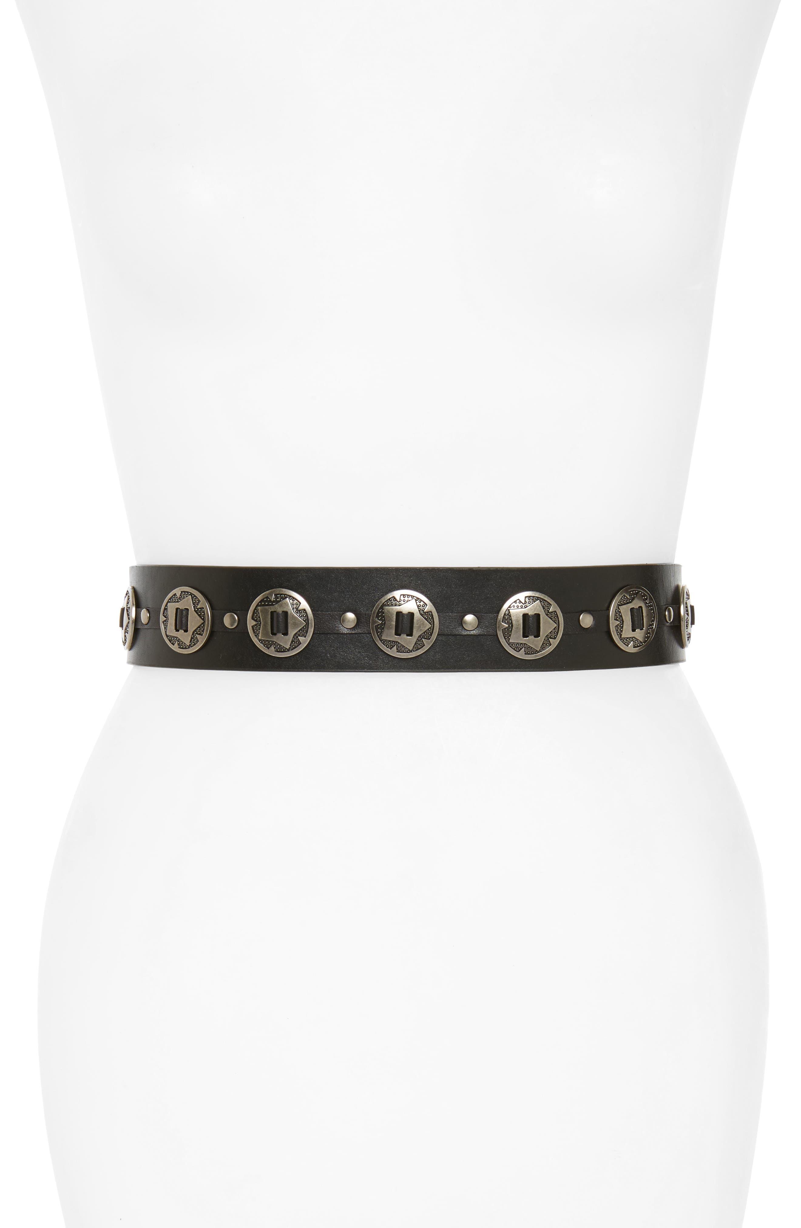 Main Image - Hinge Concho Stretch Belt