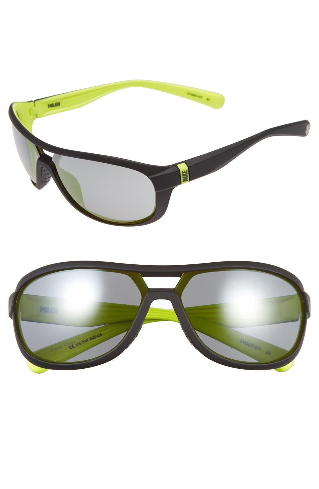 Alternate Image 1 Selected - Nike 'Miler' 65mm Aviator Sunglasses