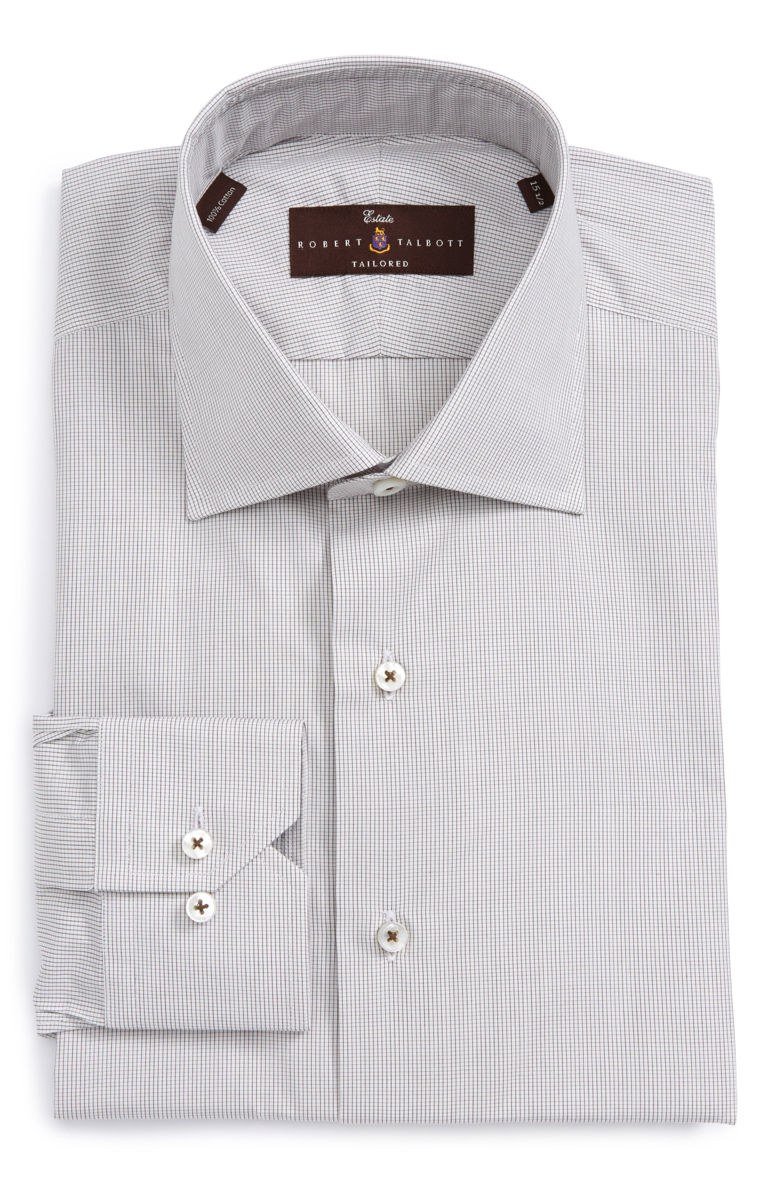 Robert Talbott Estate Tailored Fit Check Dress Shirt