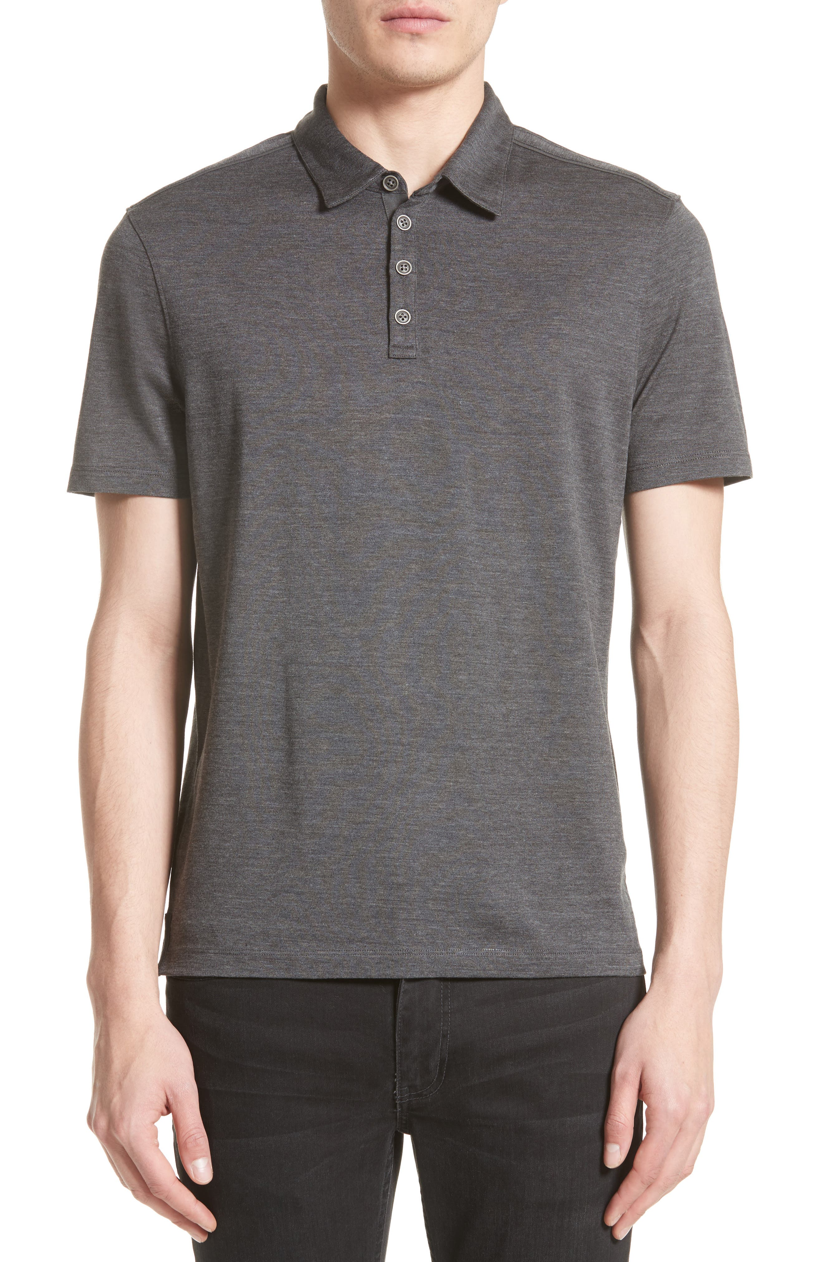 Main Image - John Varvatos Collection 'Hampton' Silk & Cotton Polo