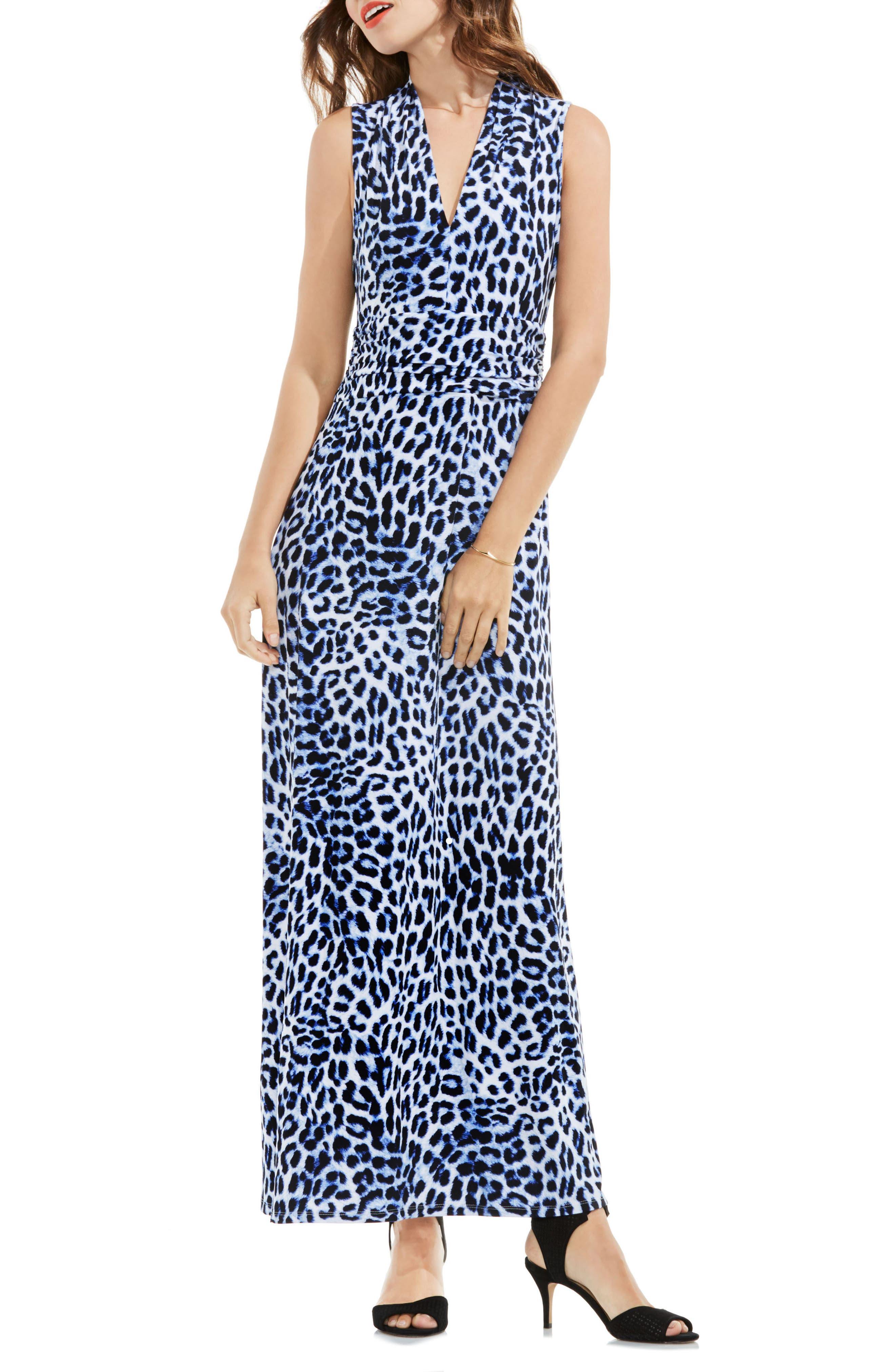 Vince Camuto Leopard Print Maxi Dress