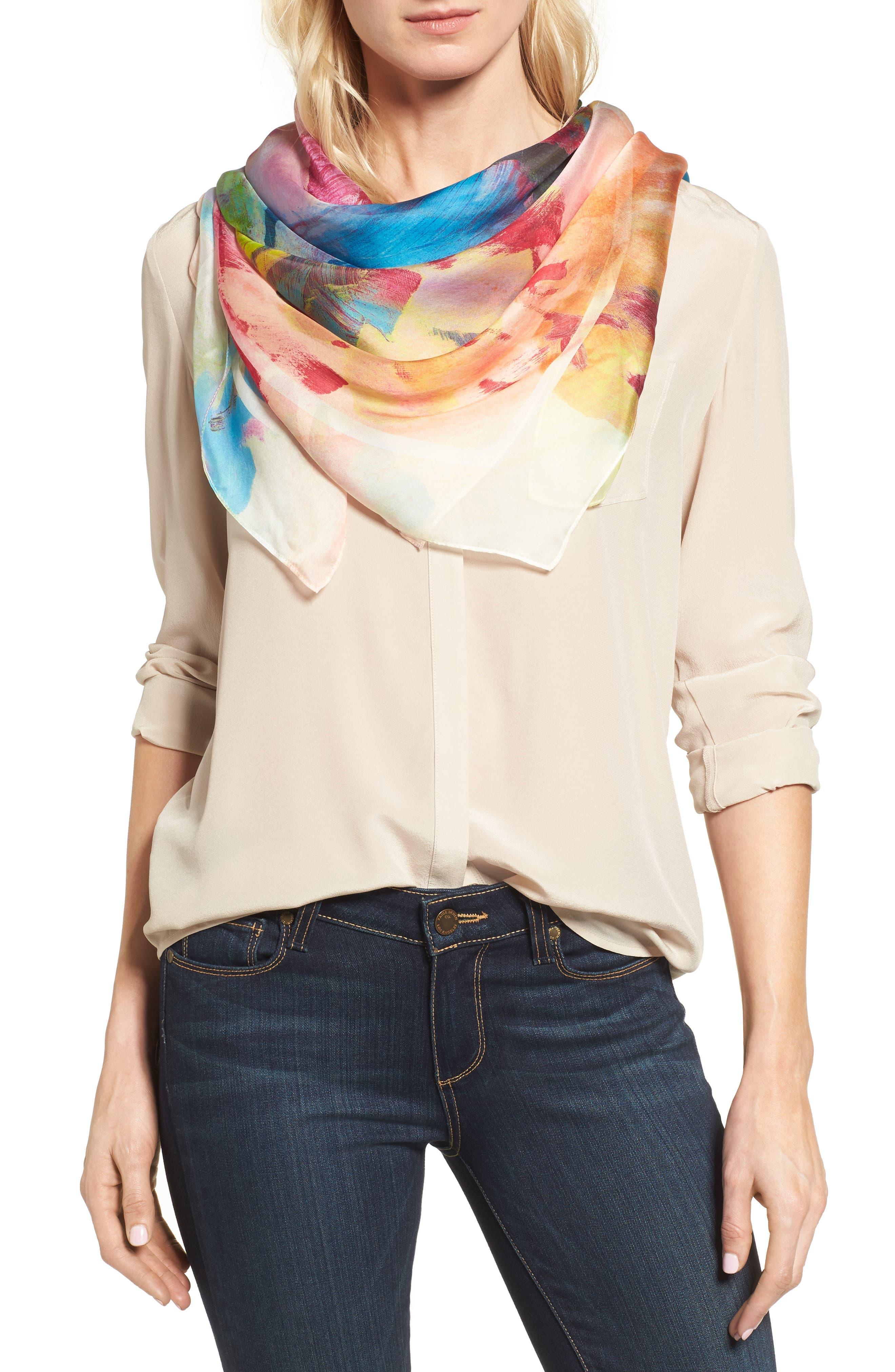 Main Image - Nordstrom Impression Paradise Silk Scarf