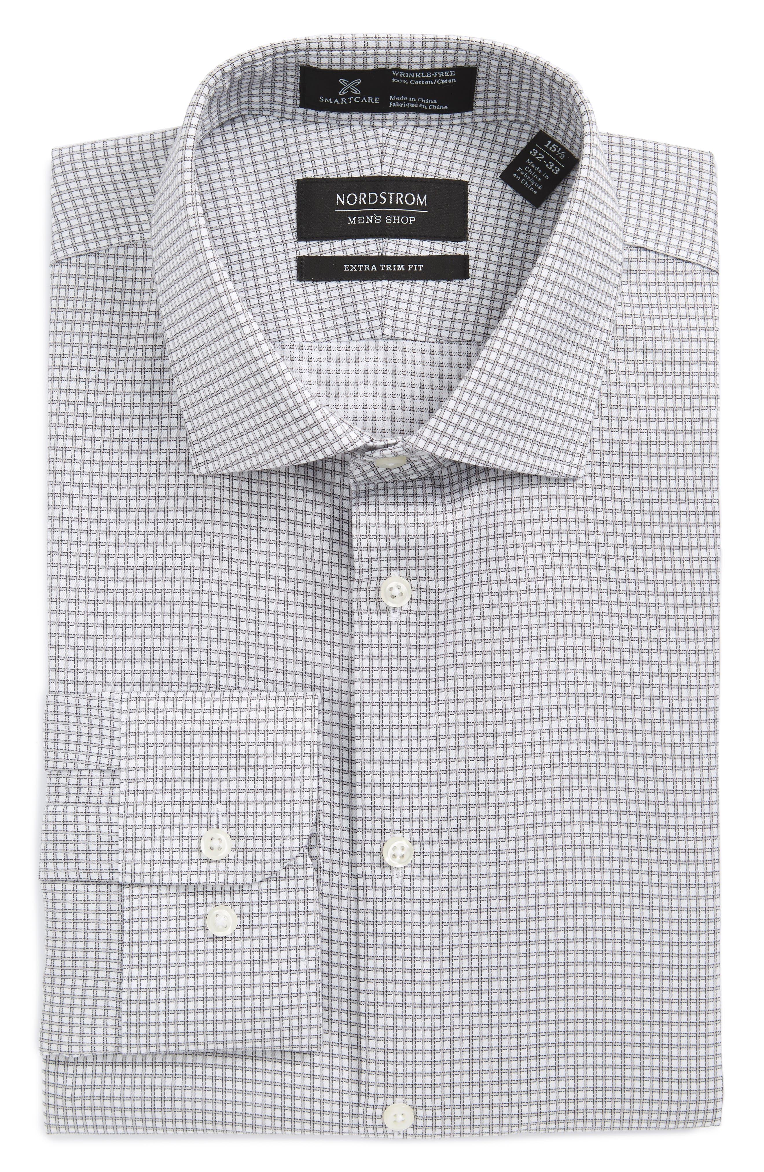 Nordstrom Men's Shop Smartcare™ Extra Trim Fit Check Dress Shirt