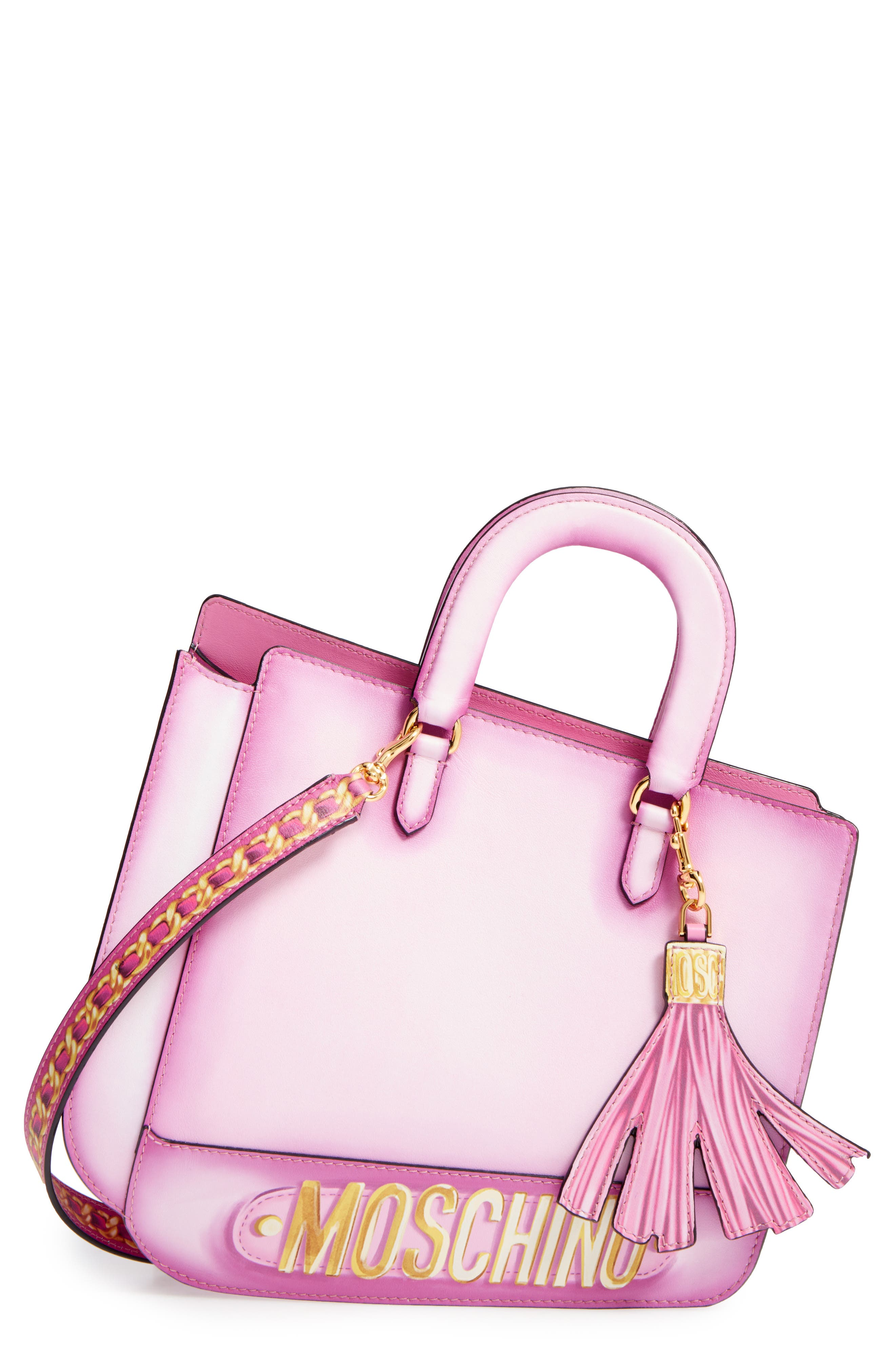 Alternate Image 1 Selected - Moschino 2D Double Handle Leather Tote