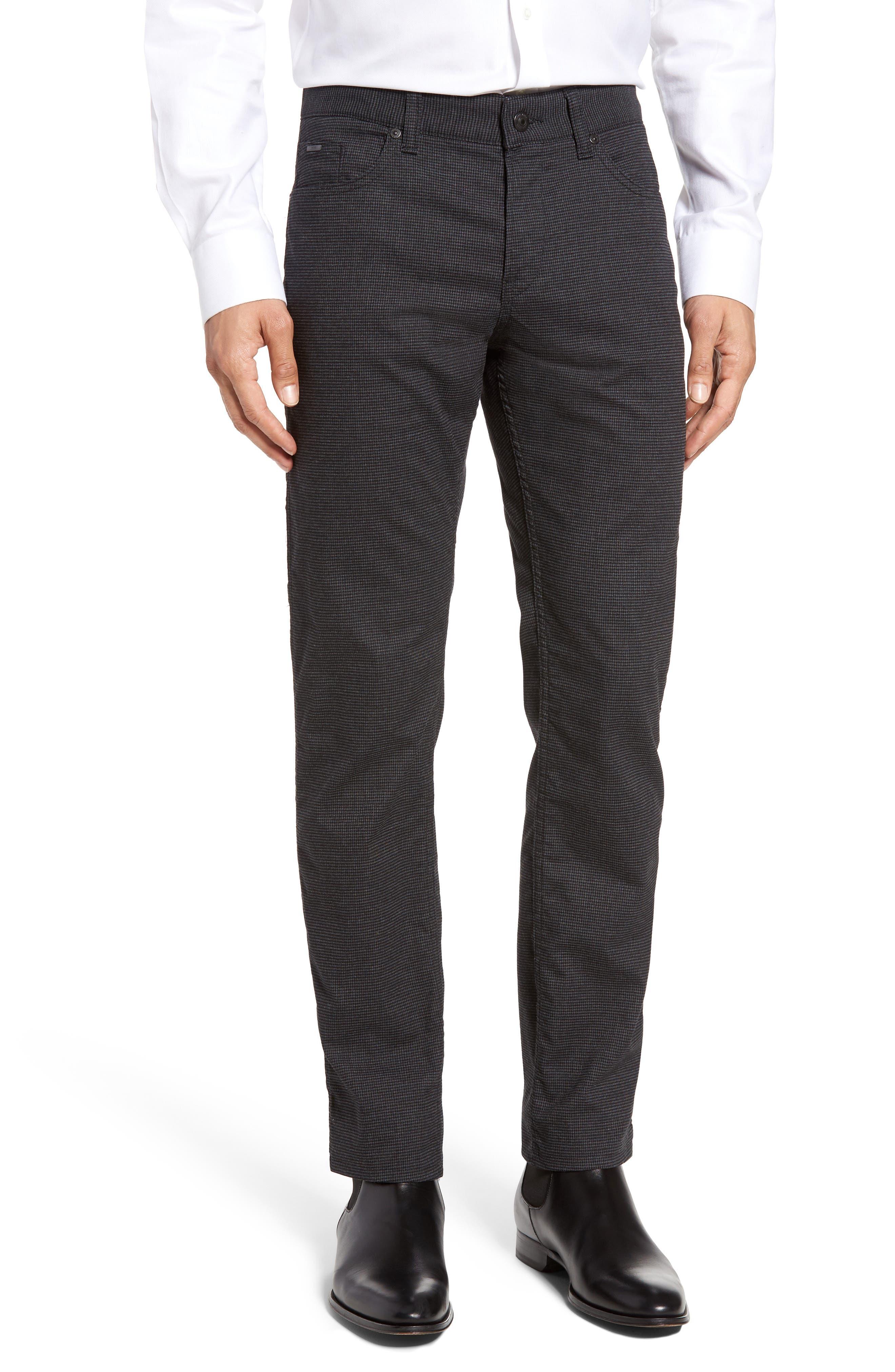 BOSS Delaware Houndstooth Slim 5-Pocket Pants
