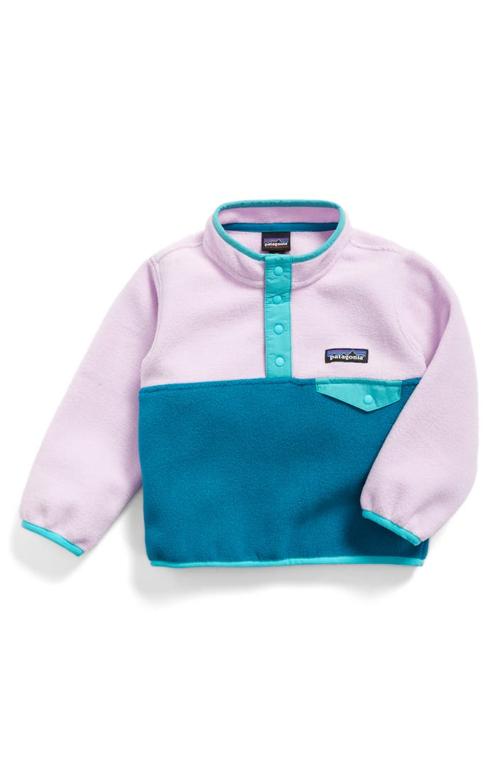 patagonia synchilla snap t fleece pullover baby girls. Black Bedroom Furniture Sets. Home Design Ideas