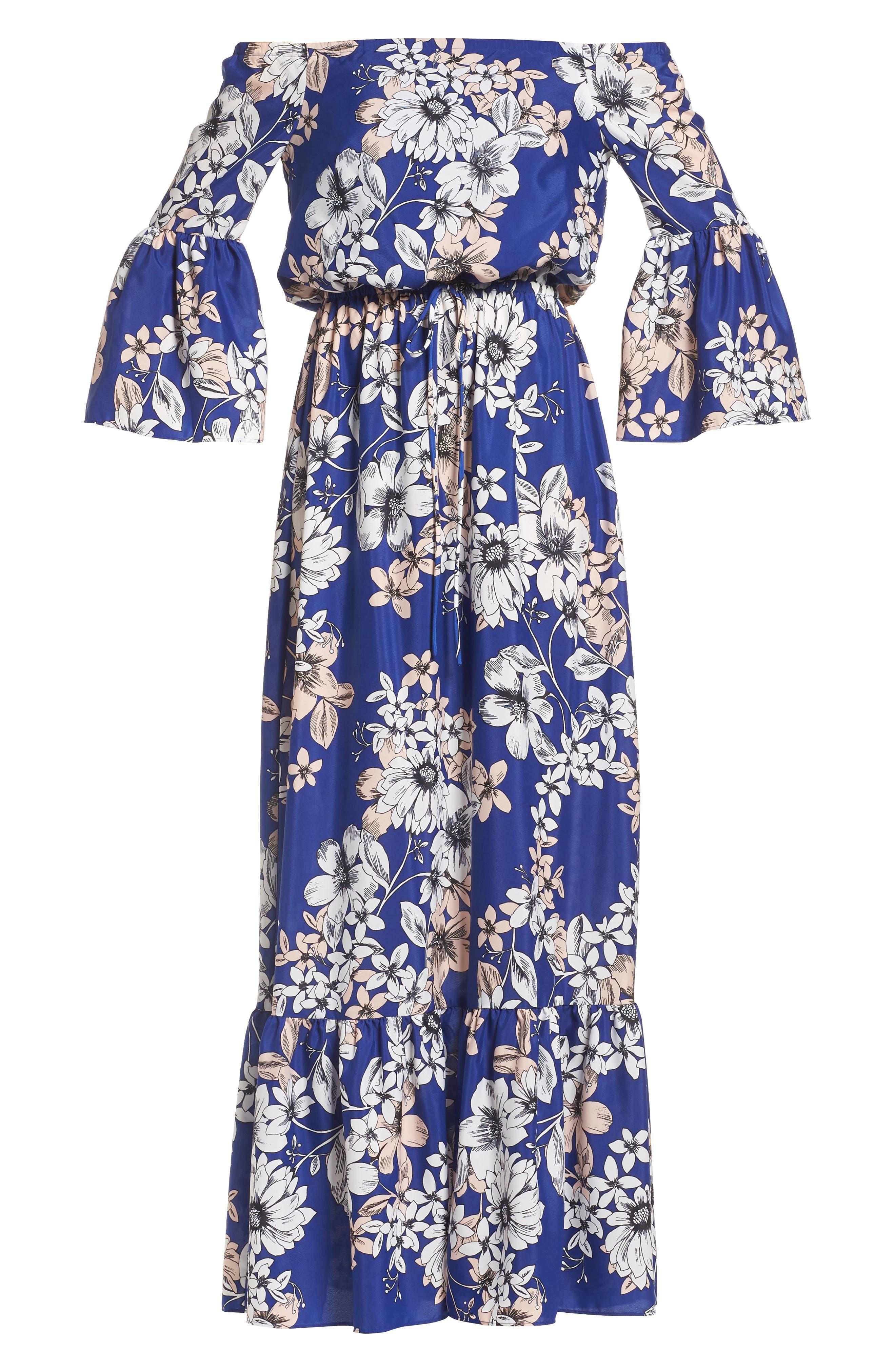 Alternate Image 6  - Eliza J Off the Shoulder Floral Maxi Dress
