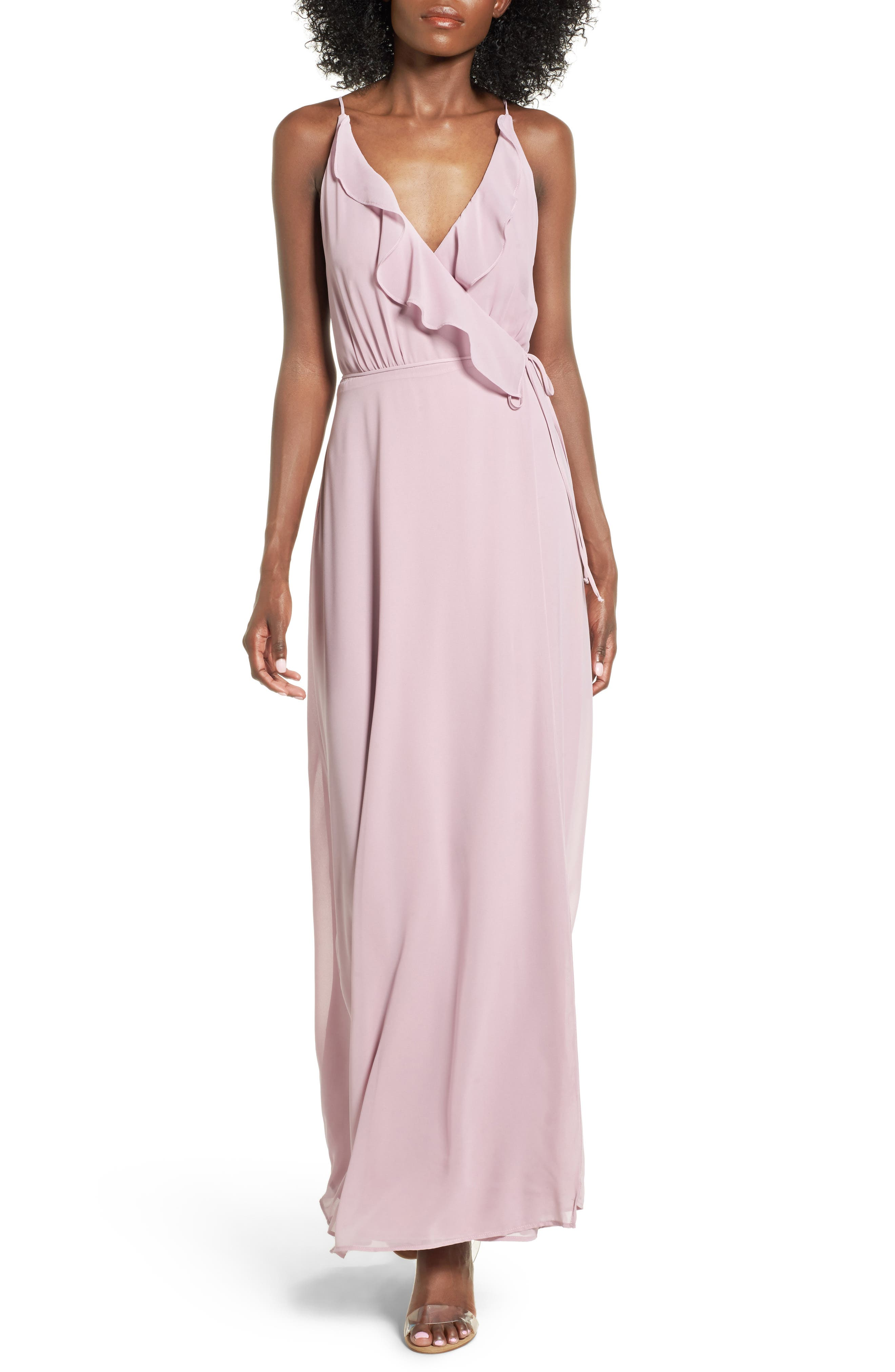 Main Image - Wayf Ruffle Maxi Dress