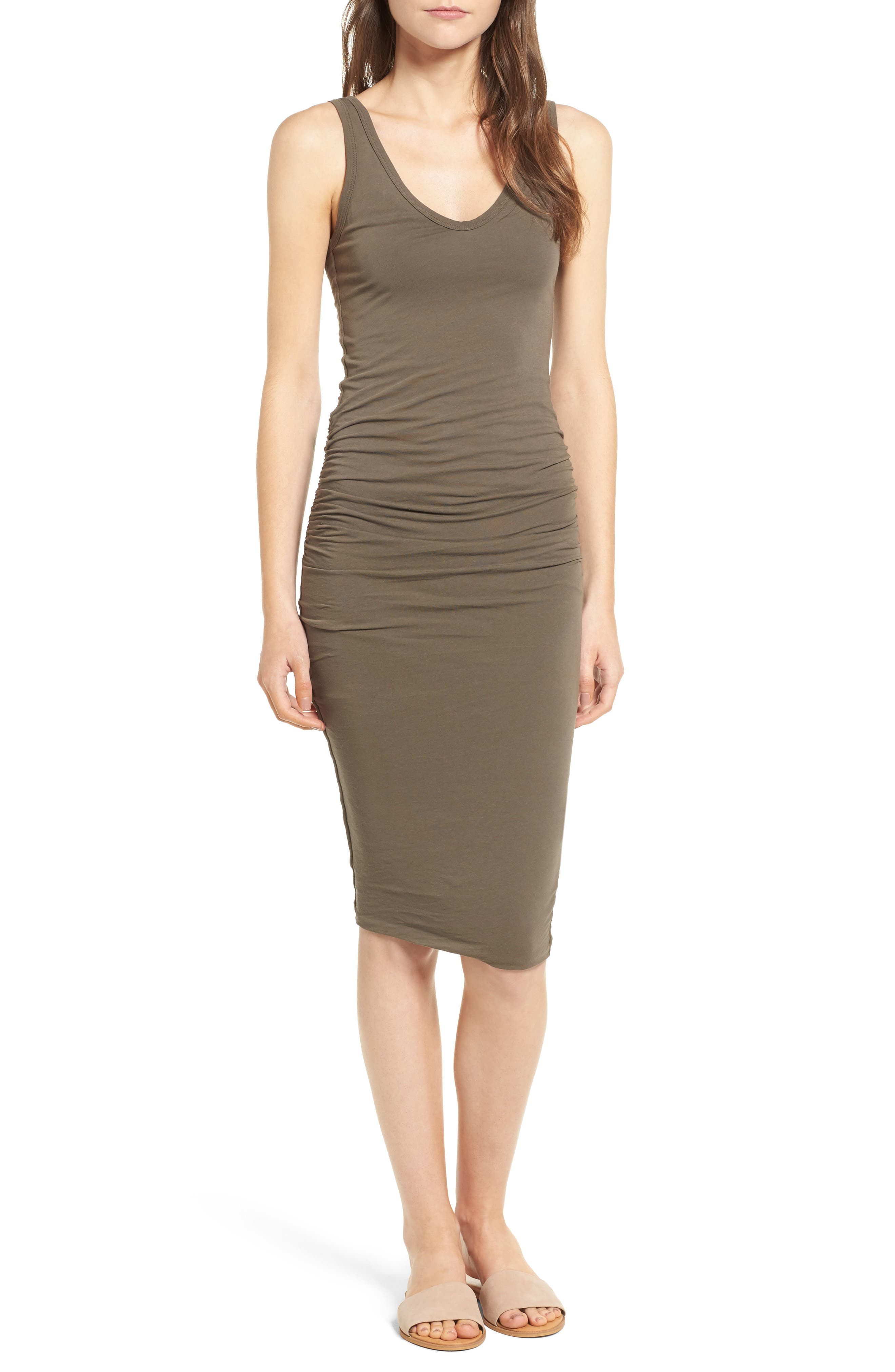 Alternate Image 1 Selected - James Perse Skinny Ruched Tank Dress