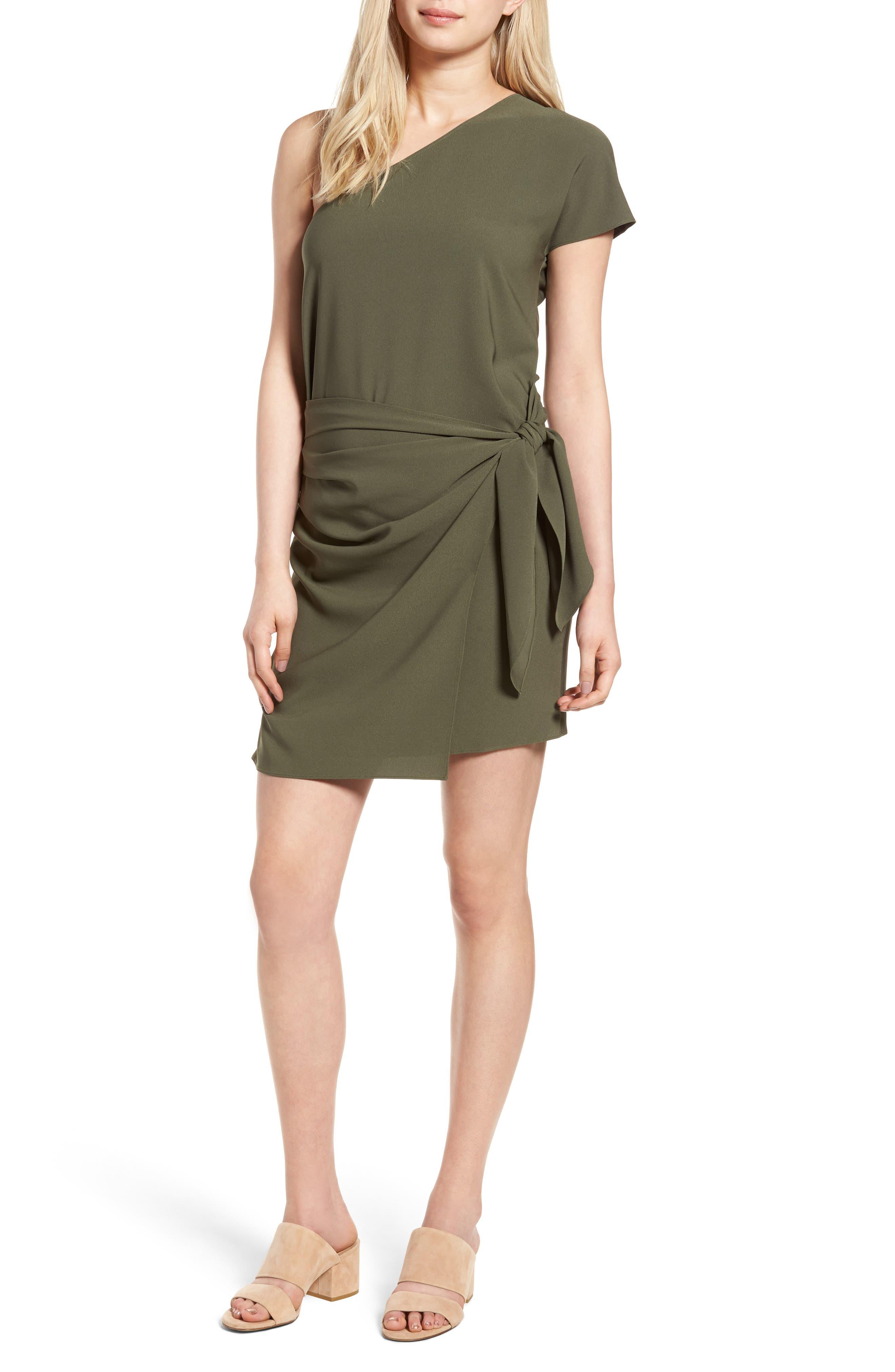 Trouvé One-Shoulder Minidress