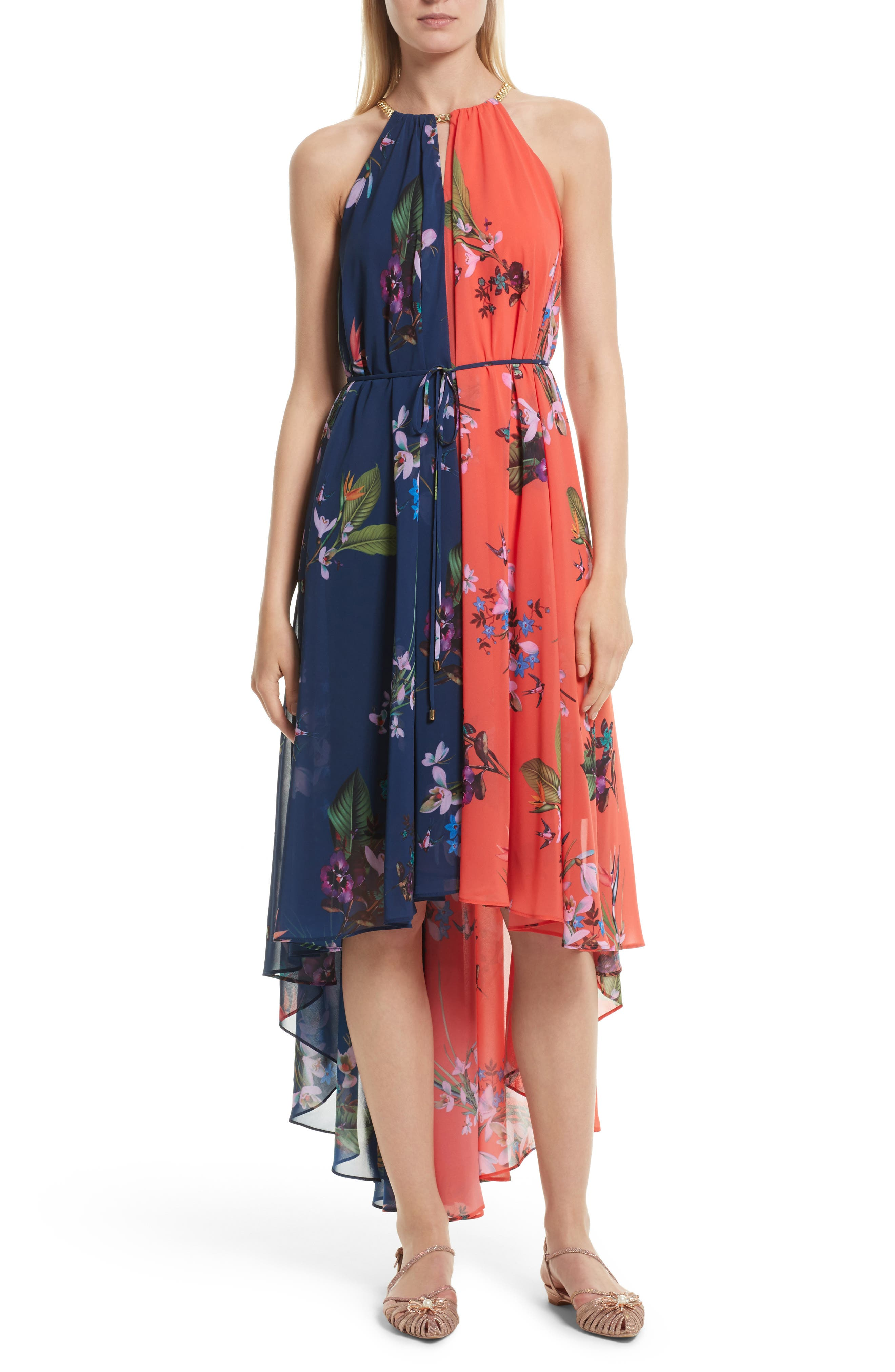 Ted Baker London Hanie High/Low Maxi Dress