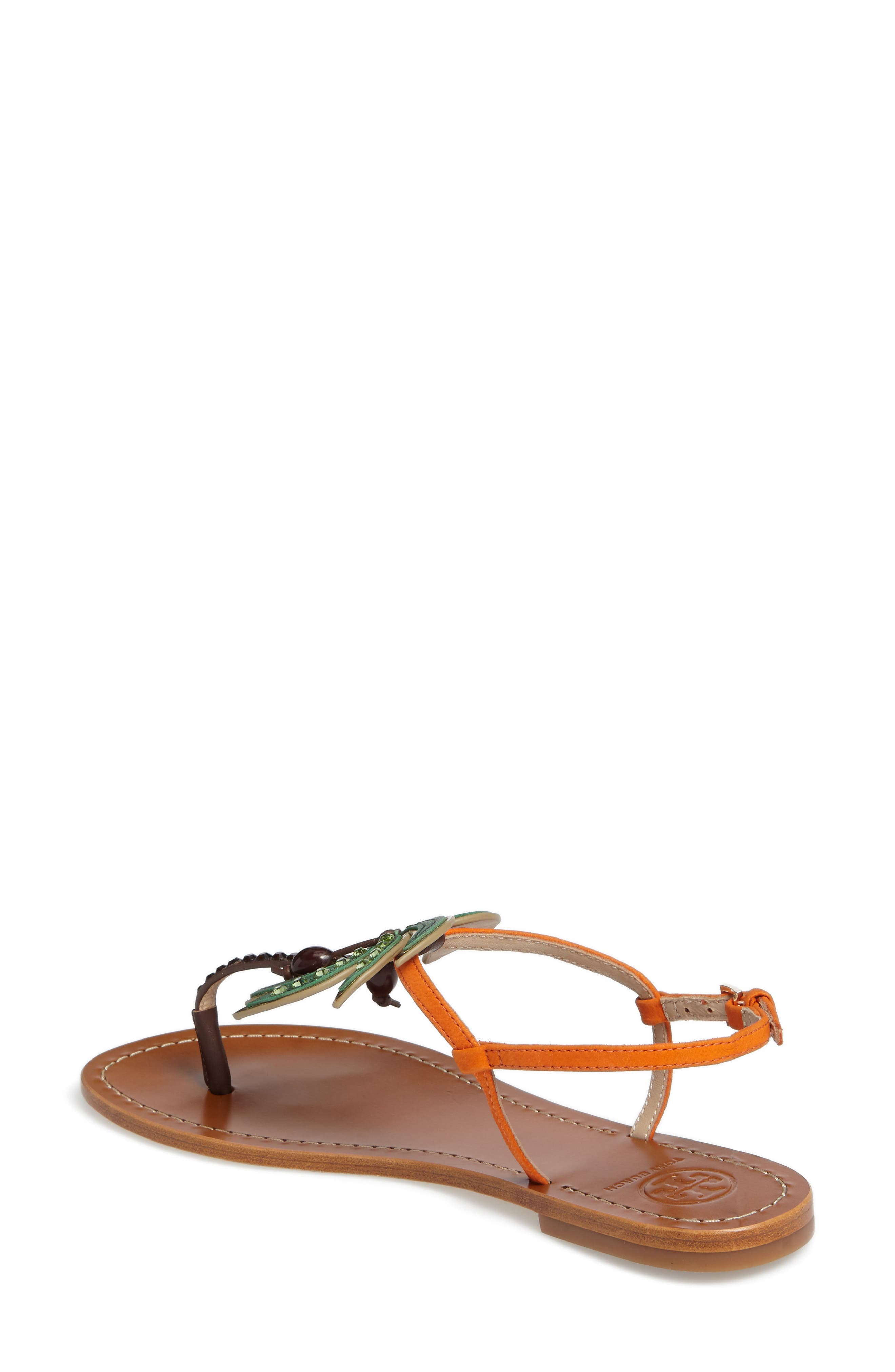 Alternate Image 2  - Tory Burch Castaway Embellished Palm Tree Sandal (Women)