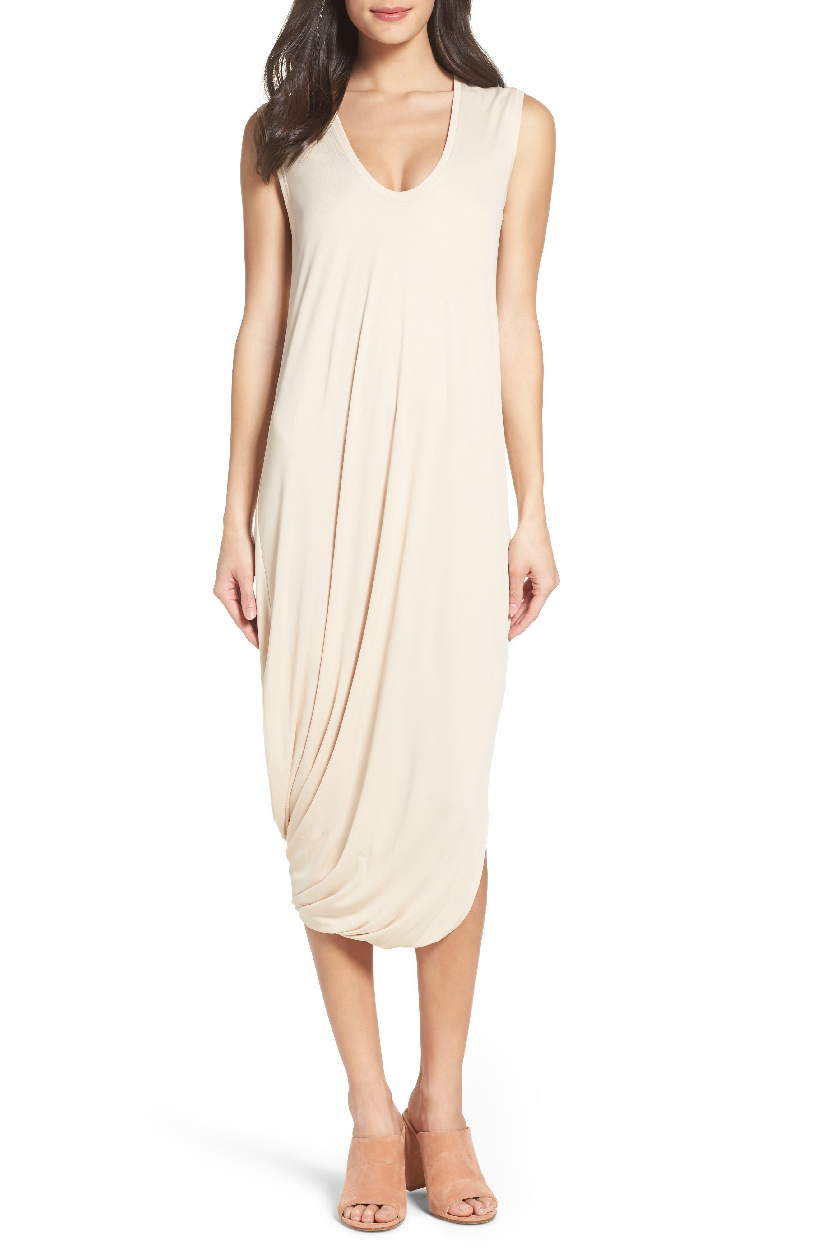 BCBGMAXAZRIA Ruched Midi Dress