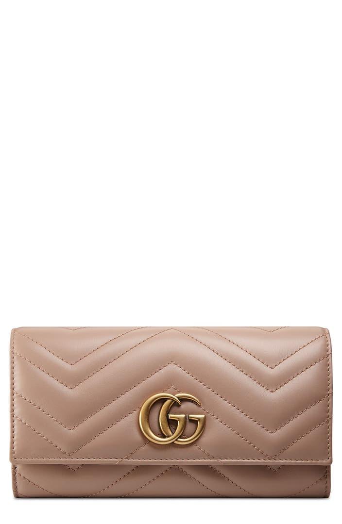 Gucci Continental Wallet Marmont Matelasse GG Black