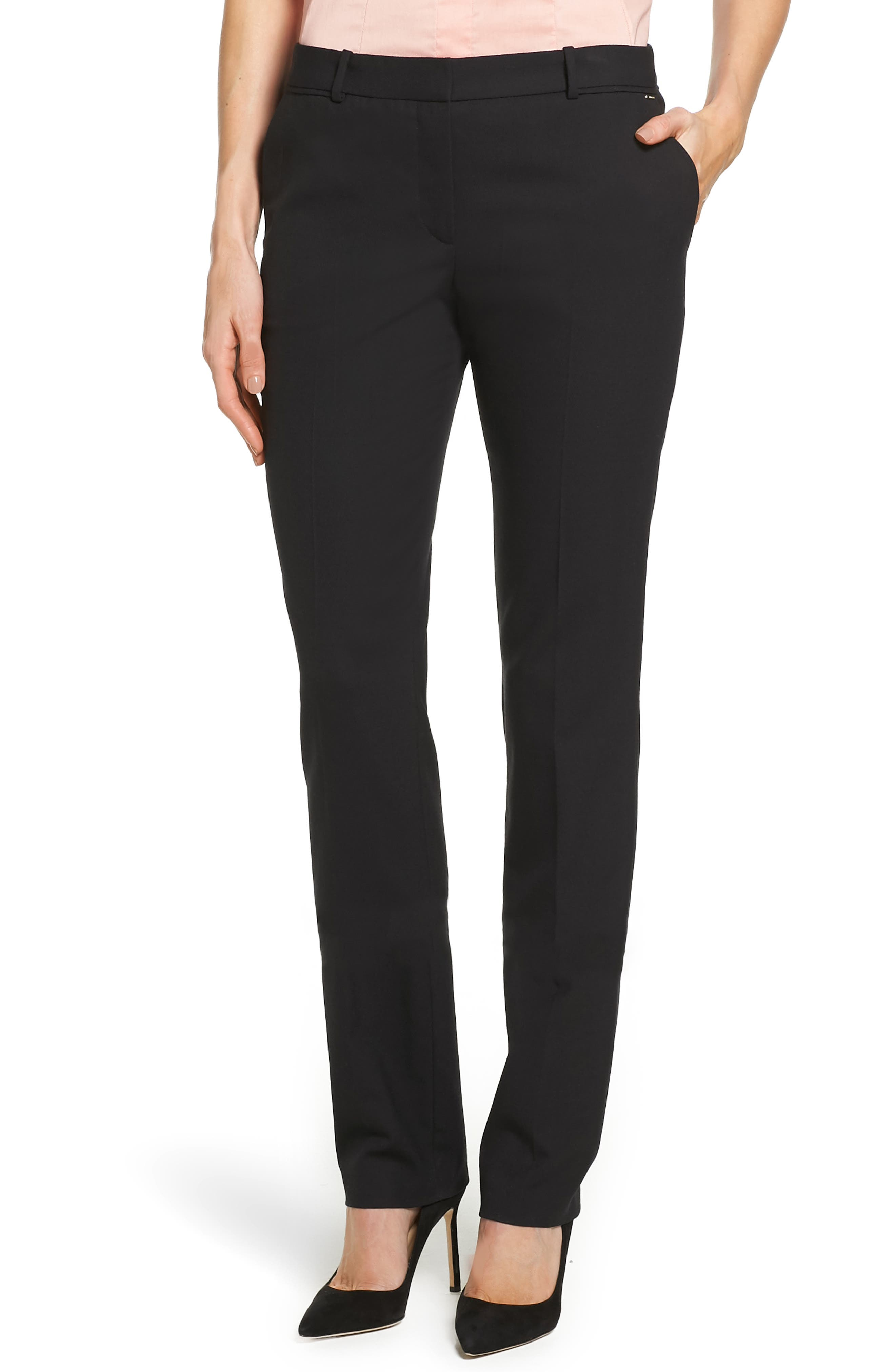 Main Image - BOSS Titana Stretch Wool Trousers (Petite)
