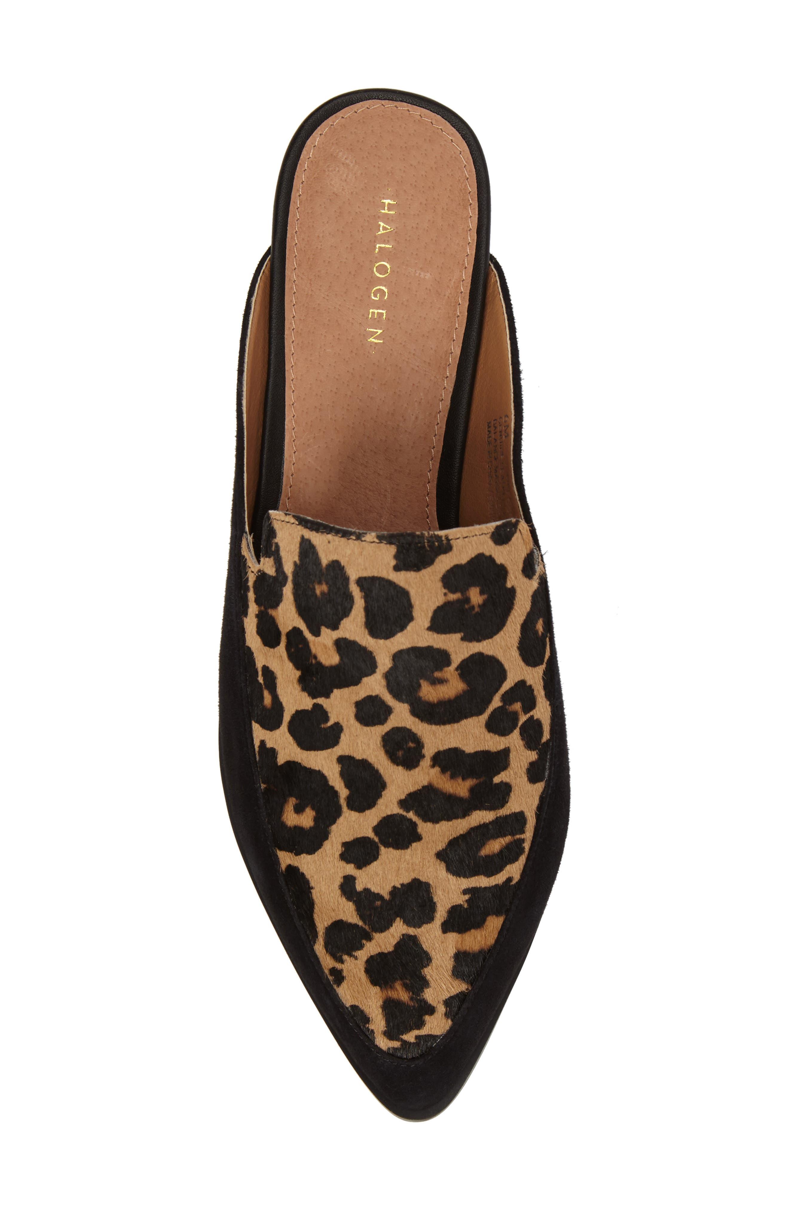 Alternate Image 4  - Halogen® Corbin Genuine Calf Hair Slide Loafer (Women)