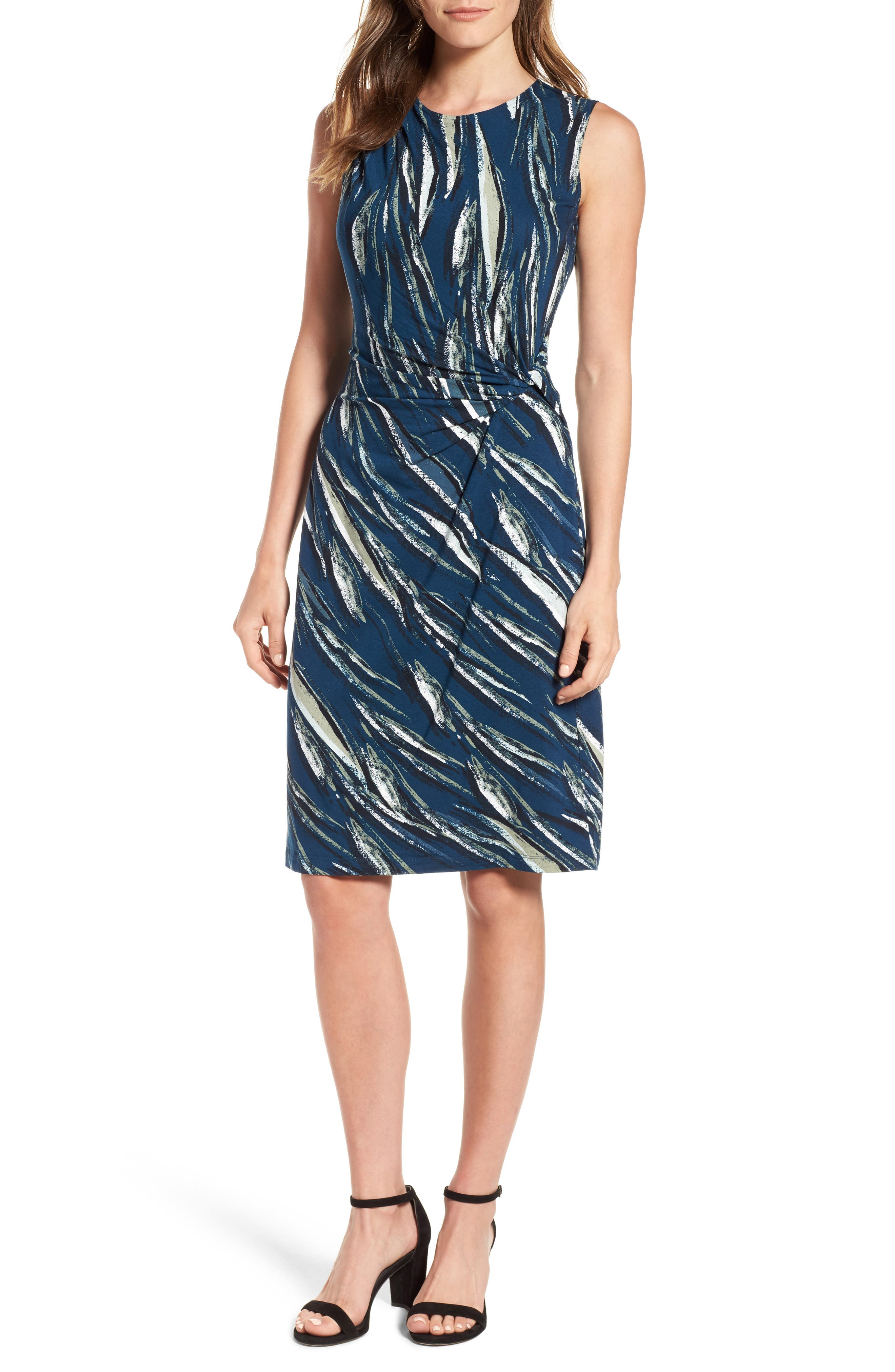 NIC+ZOE Tiger Lily Twist Front Sheath Dress (Regular & Petite)