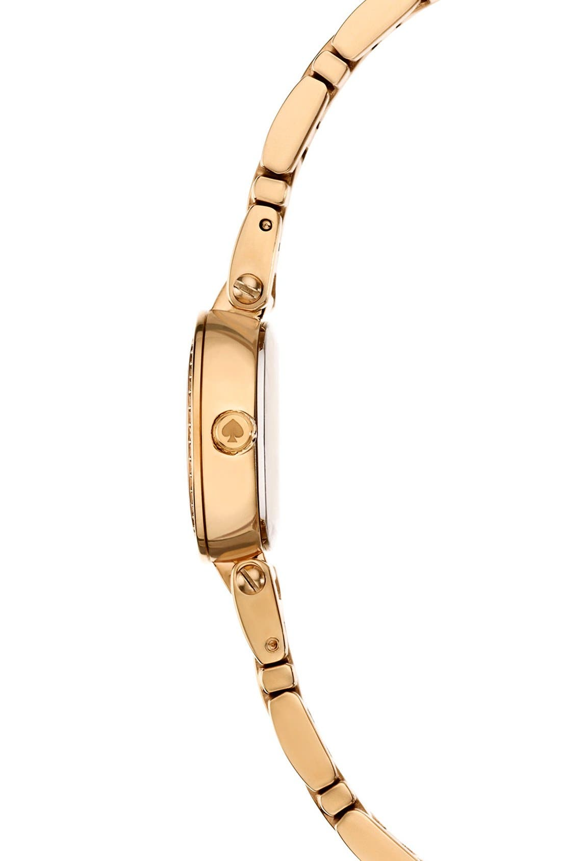 Alternate Image 3  - kate spade new york 'tiny gramercy' crystal bezel bracelet watch, 20mm